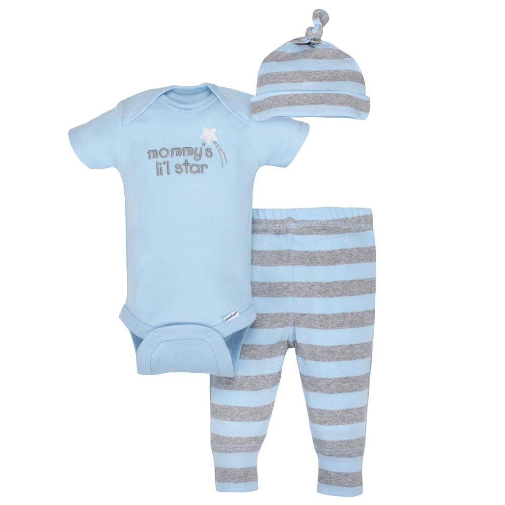 3-Piece Organic Boys Li'l Star Take-Me-Home Set