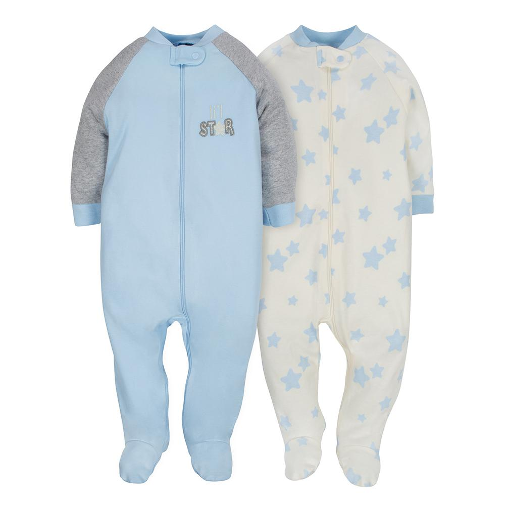 2-pack Organic Boys Lil' Star Sleep N' Plays