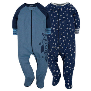 2-Pack Boys Organic Rocket Sleep N' Play