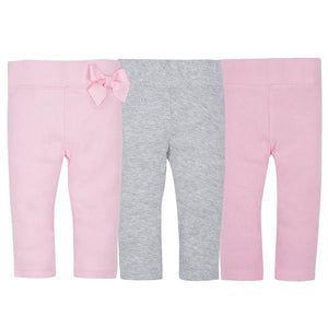 3-Pack Girls Organic Slim Pants