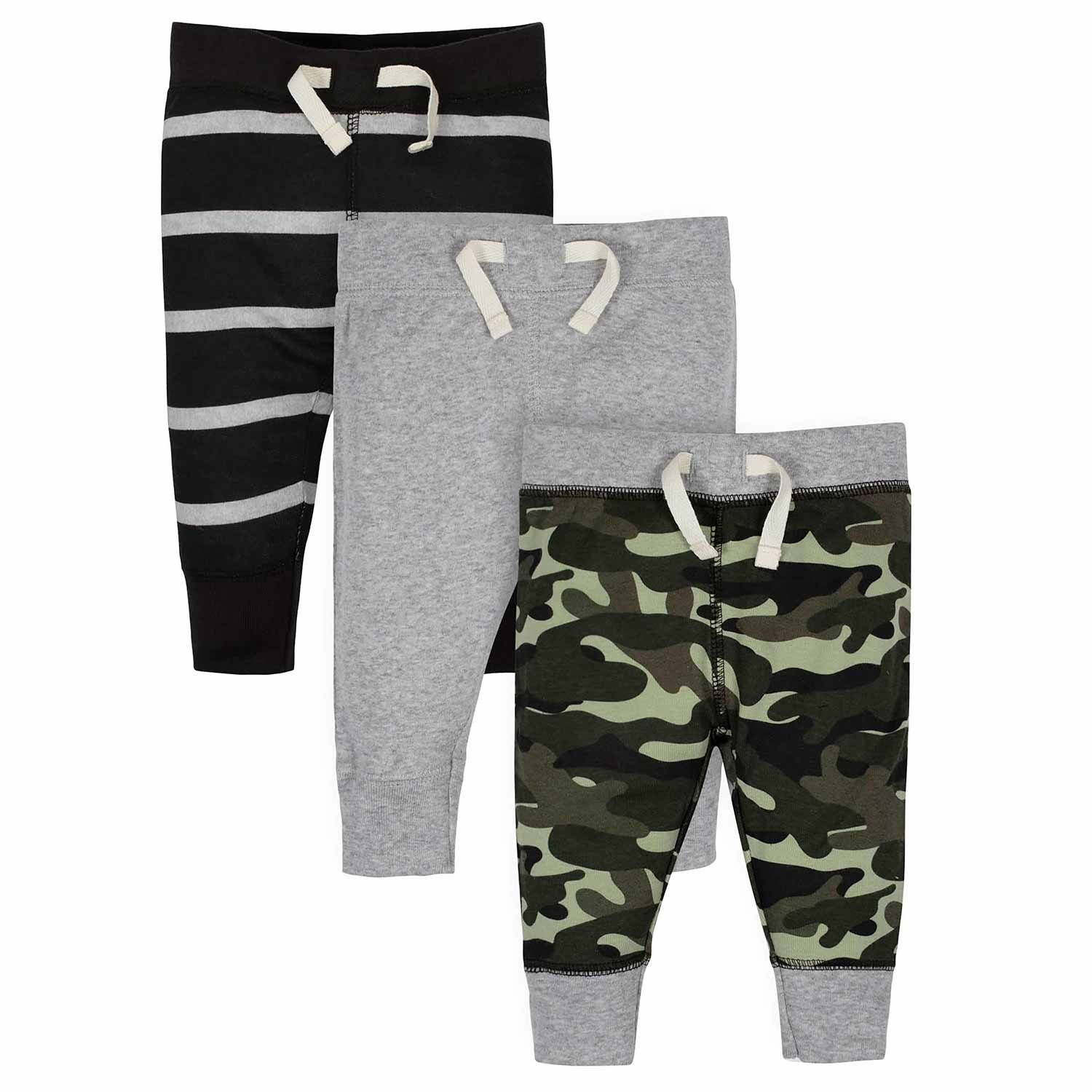 Baby Boys' 3-Pack Organic Wild Active Pants-Gerber Childrenswear