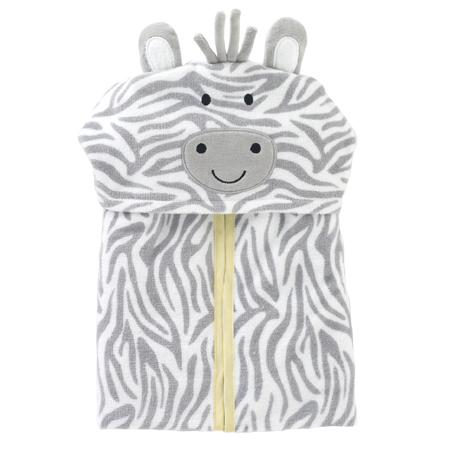 Just Born® Welcome to the Circus Hooded Bath Wrap, Zebra-Gerber Childrenswear