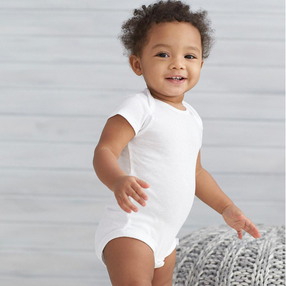 5e24f8fee0 4-Pack Toddler White Onesies reg  Brand Short Sleeve Bodysuits