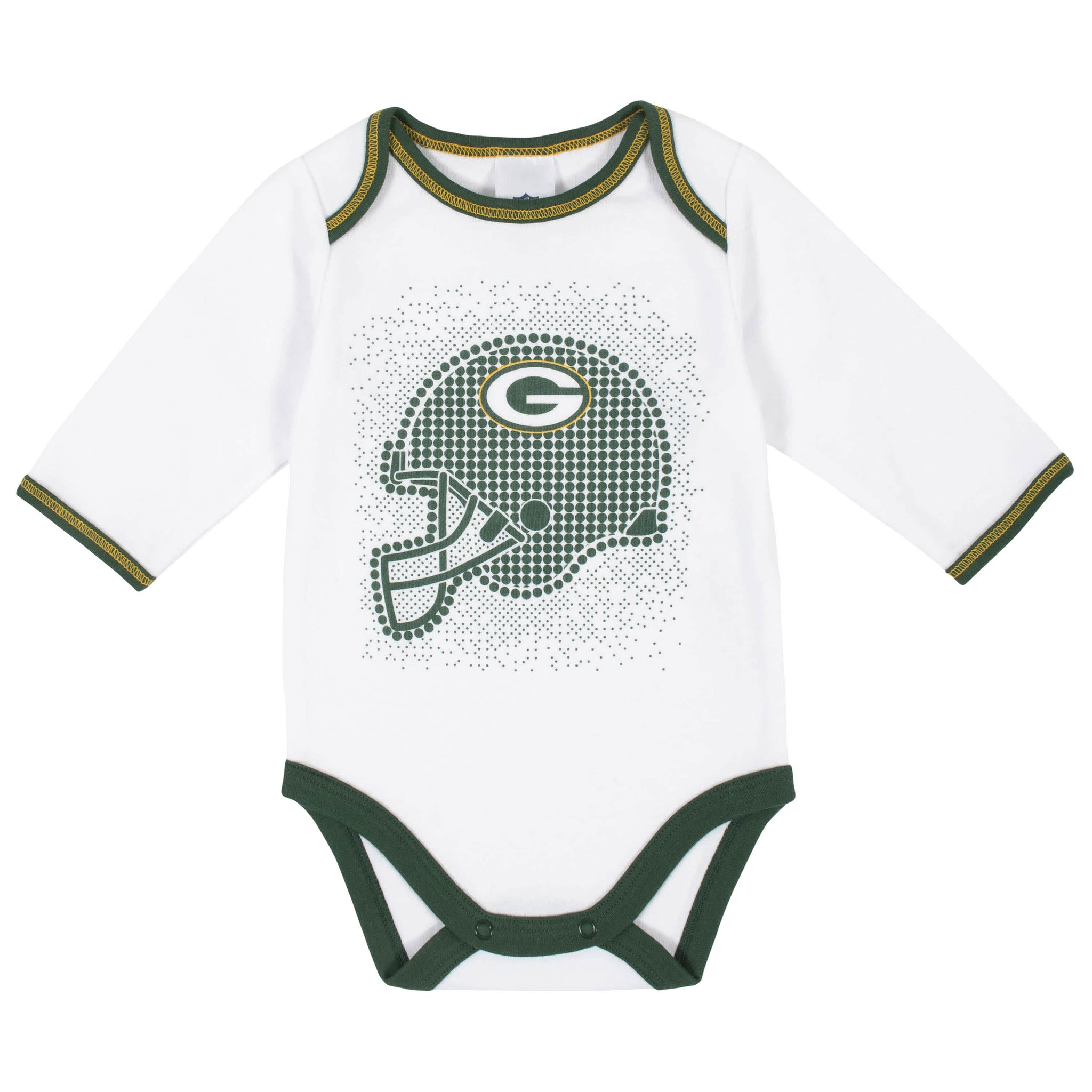 Green Bay Packers 3-Piece Baby Boys Bodysuit, Pant, and Cap Set