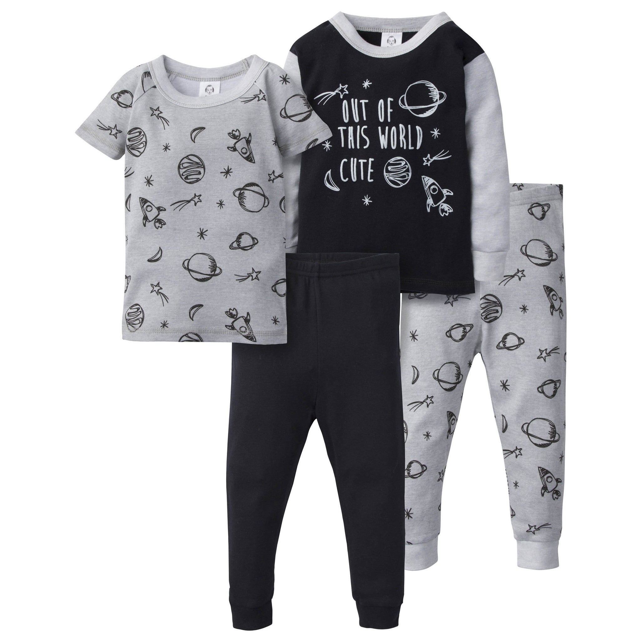 4-Piece Boys Cotton Pajamas - Out Of This World
