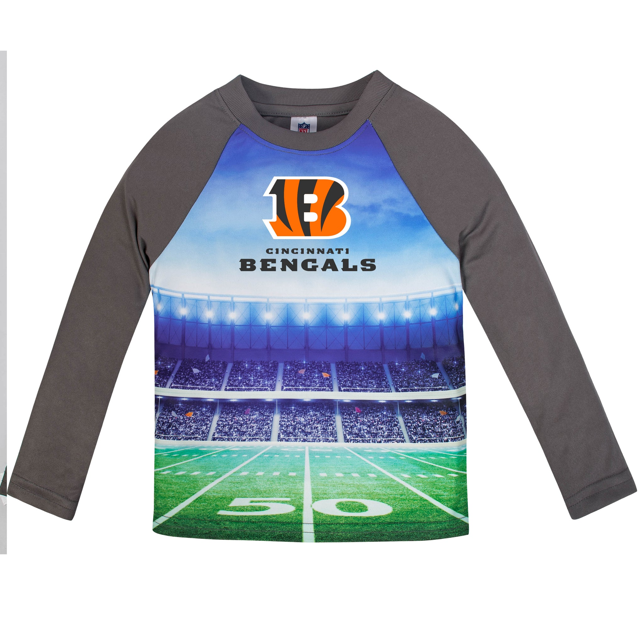 Cincinnati Bengals Boys Long Sleeve Tee Shirt-Gerber Childrenswear