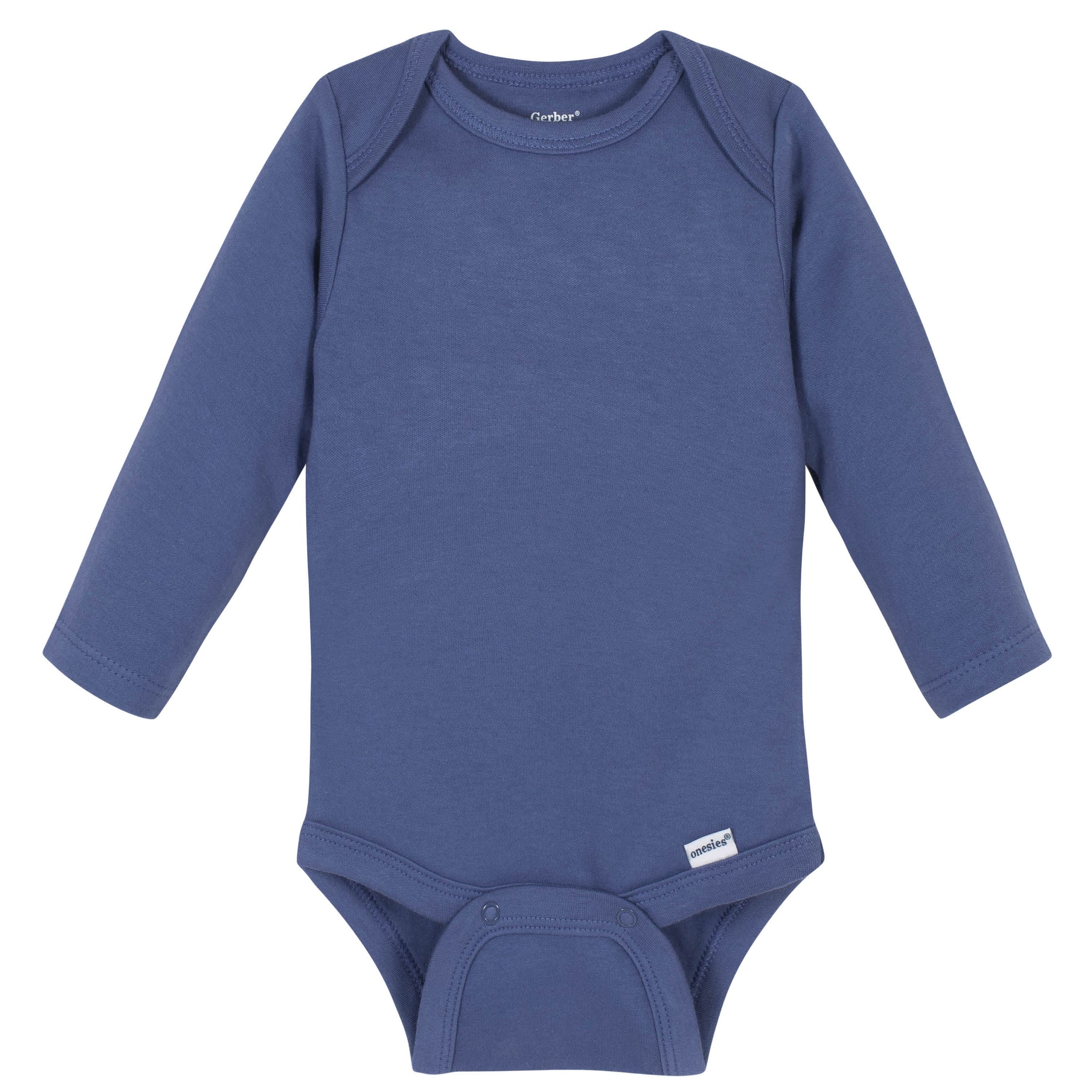 Gerber® Premium Blue Long Sleeve Onesies® Brand Bodysuit - 10 Colors Available