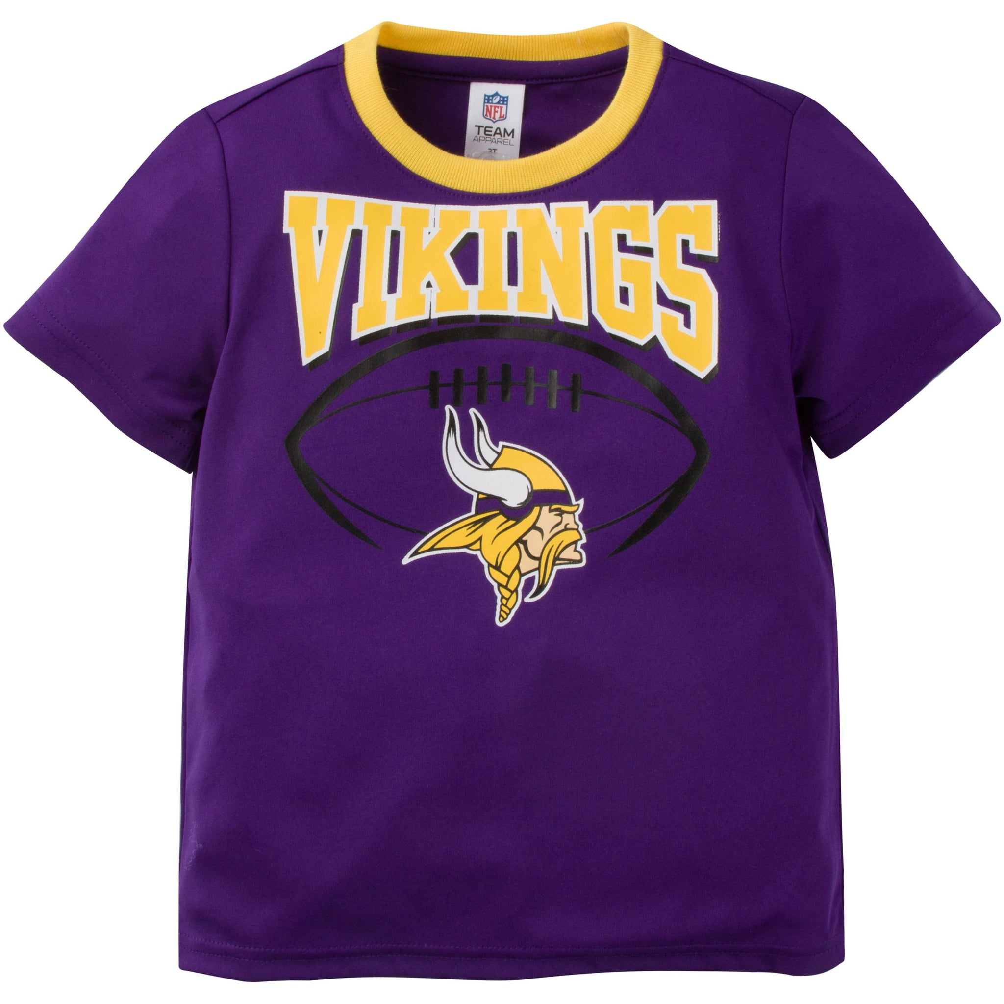 NFL Minnesota Vikings Toddler Boys Short Sleeve Performance Tee Shirt