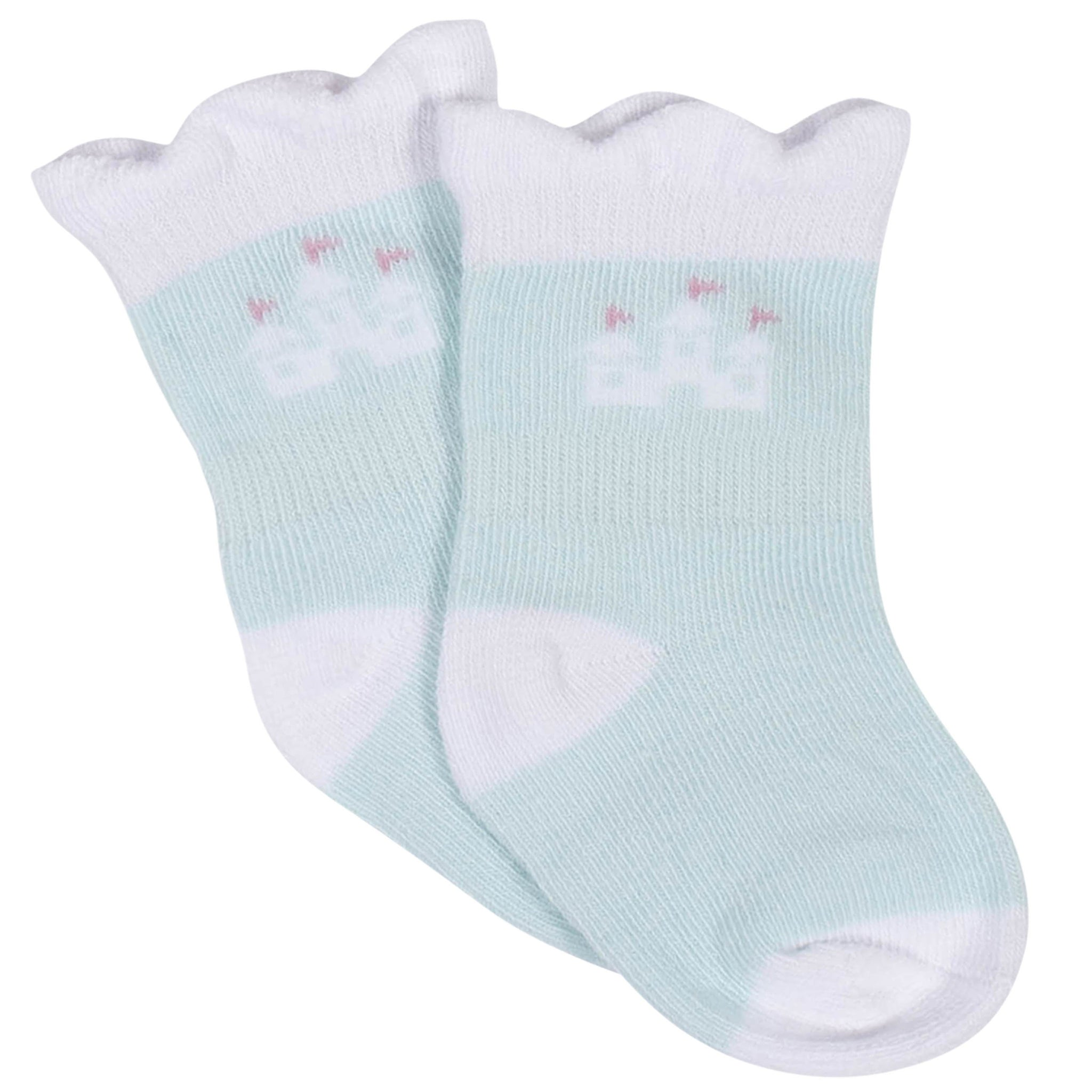 Baby Girls' 8-Pack Wiggle Proof Jersey Crew Socks - Princess