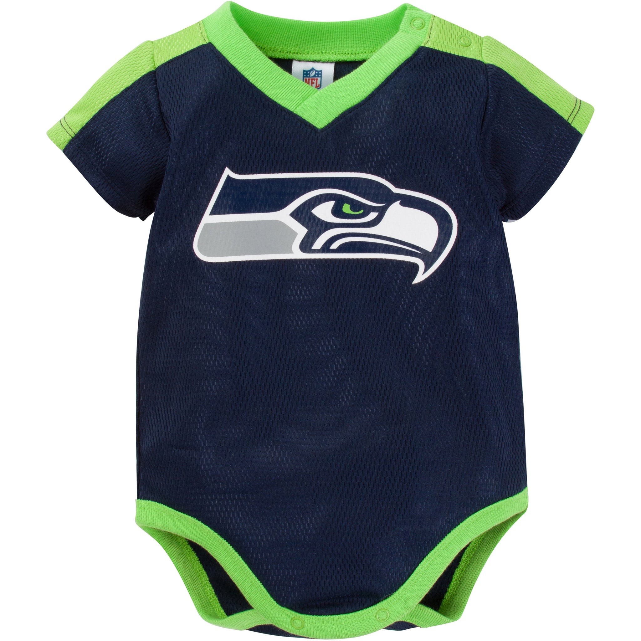 NFL Seahawks Infant Dazzle Short Sleeve Bodysuit-Gerber Childrenswear