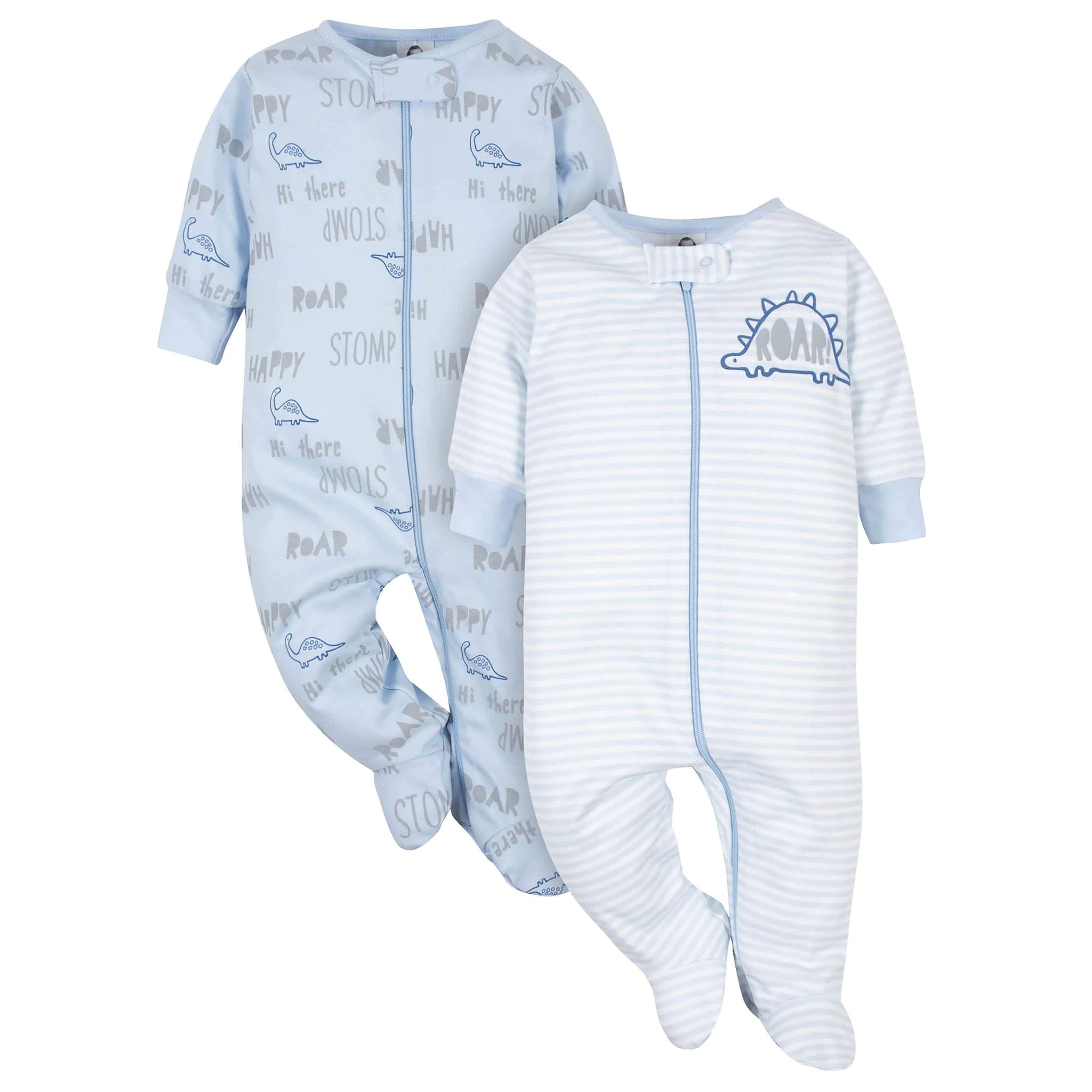 Gerber® Organic 2-Pack Baby Boys Dino Sleep 'N Plays