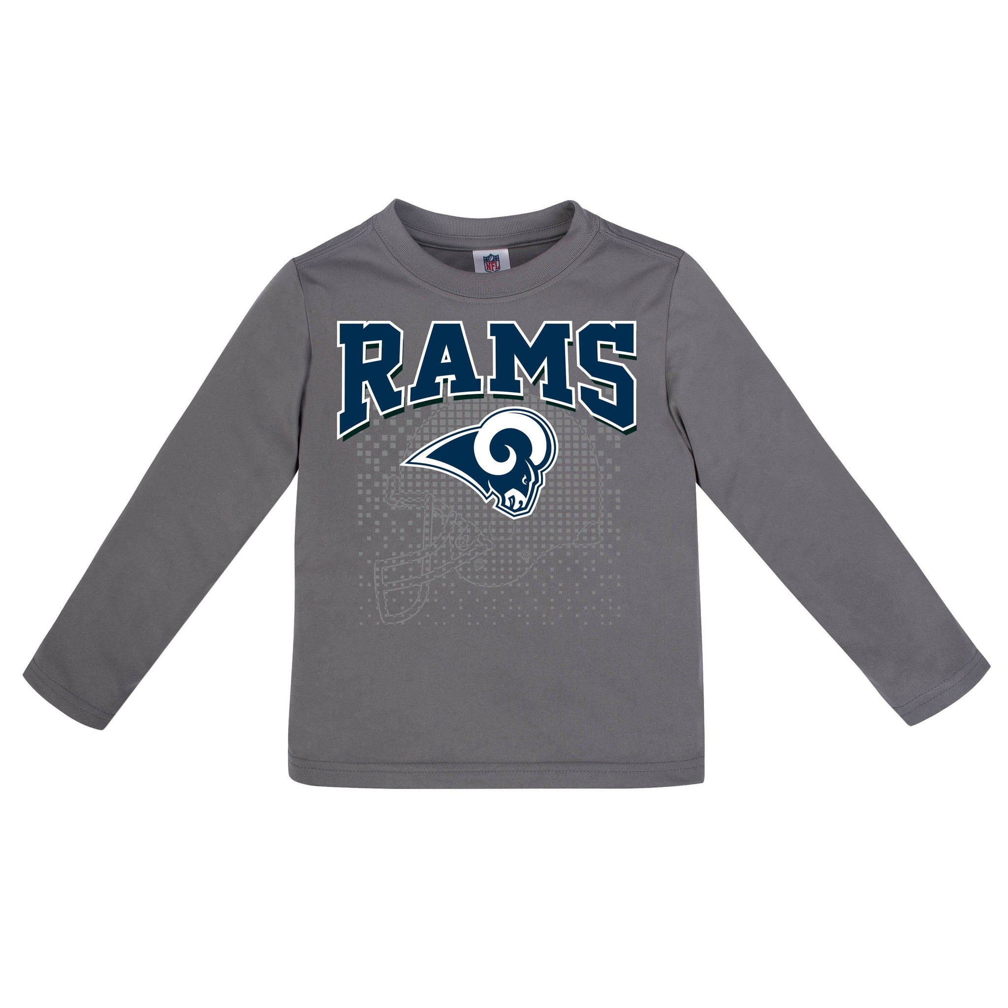 LA Rams Boys Long Sleeve Tee Shirt-Gerber Childrenswear