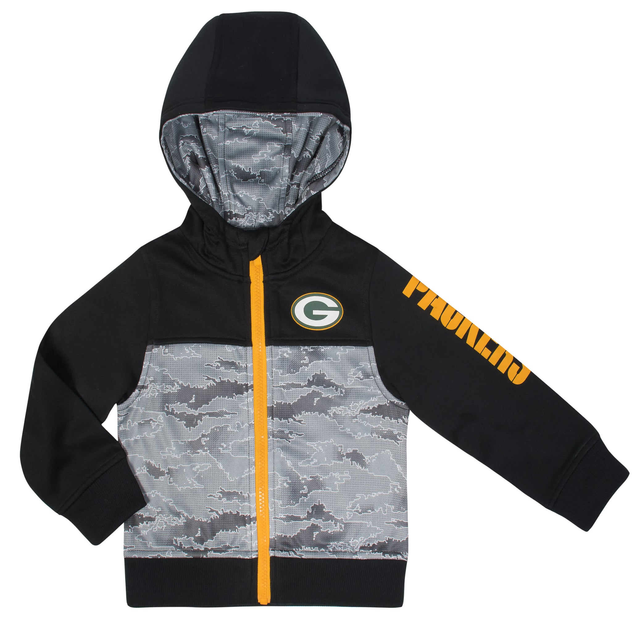 NFL Packers Hooded Zip Up Jacket-Gerber Childrenswear