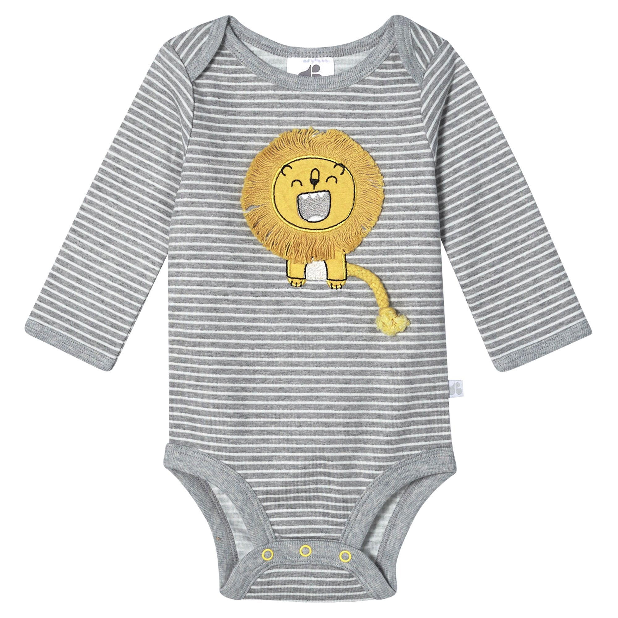 Just Born® Organic Baby Boys 2-Piece Lil' Lion Long Sleeve Bodysuit and Pant Set-Gerber Childrenswear