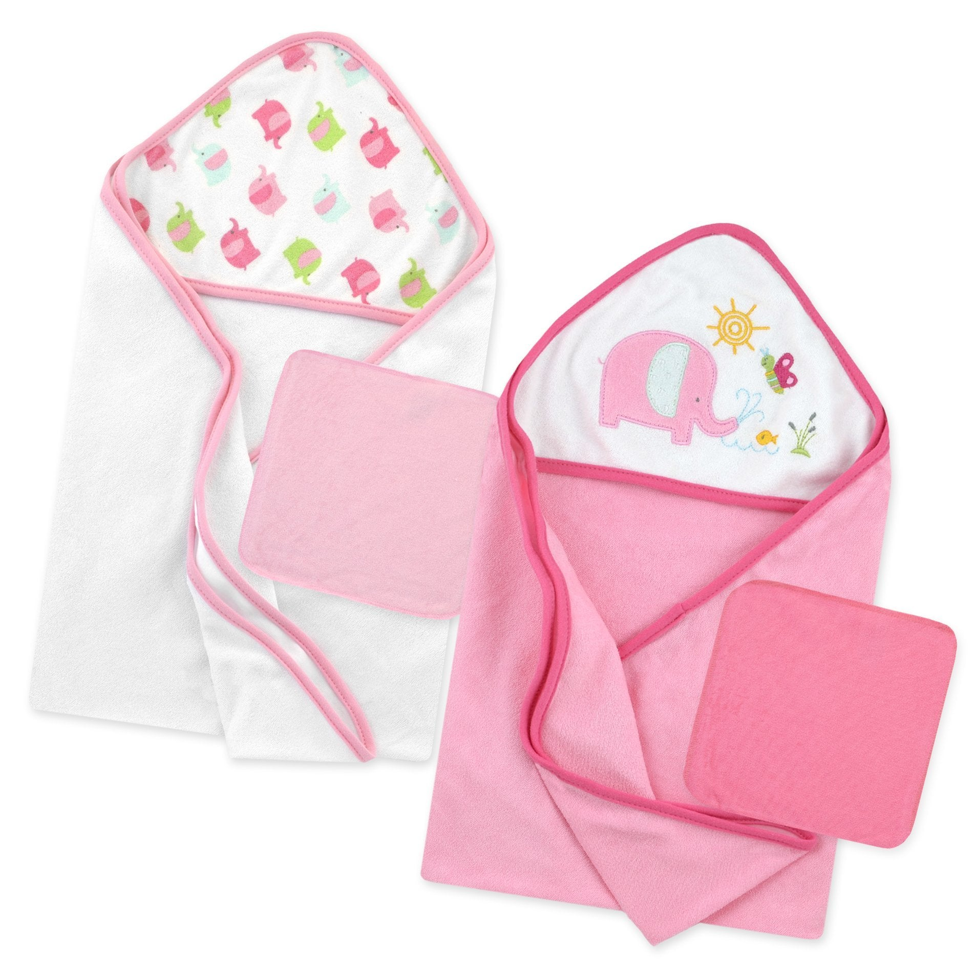 Just Born®Love to Bathe 4-Piece Hooded Towel & Washcloth Set-Gerber Childrenswear