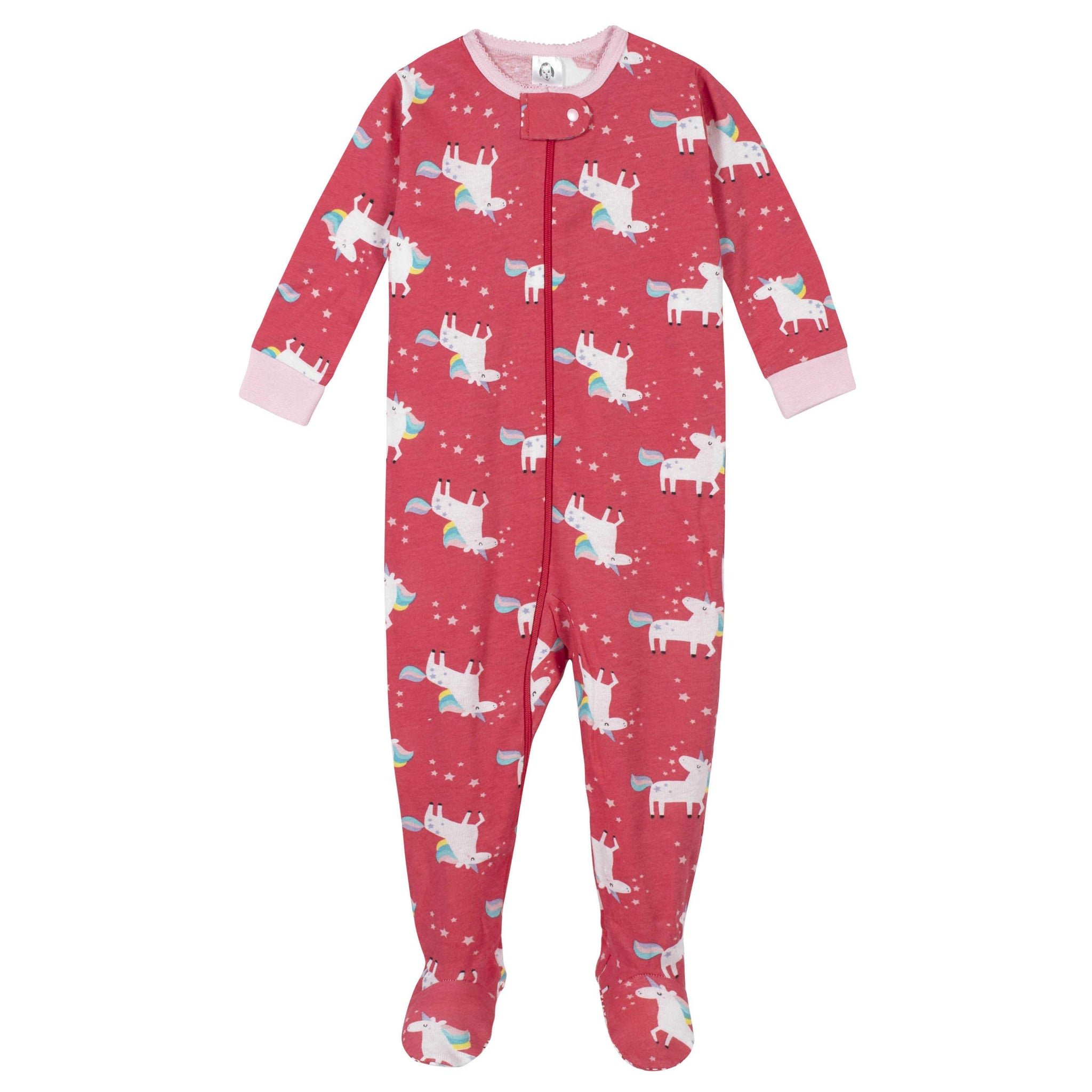Gerber® 4-Pack Baby Girls Unicorn and Sunshine Footed Pajamas-Gerber Childrenswear