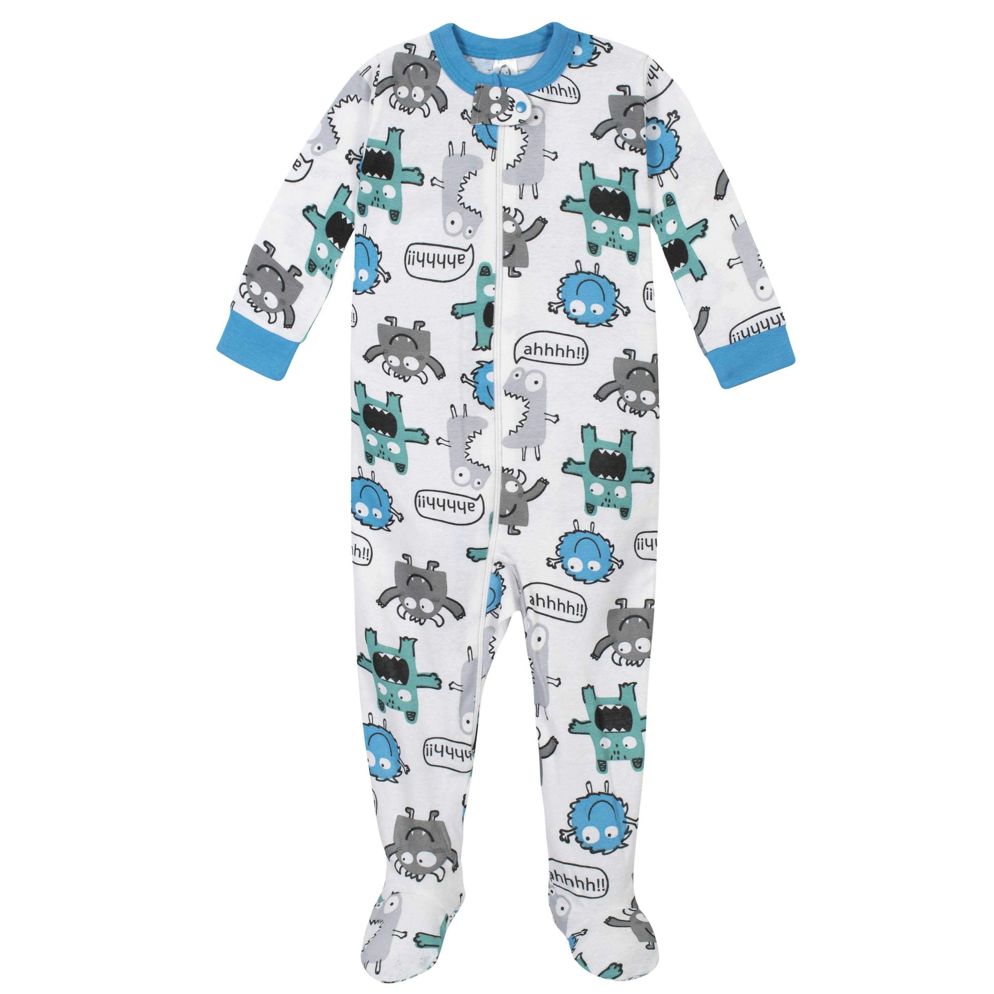 2-Pack Boys Monster Footed Pajamas