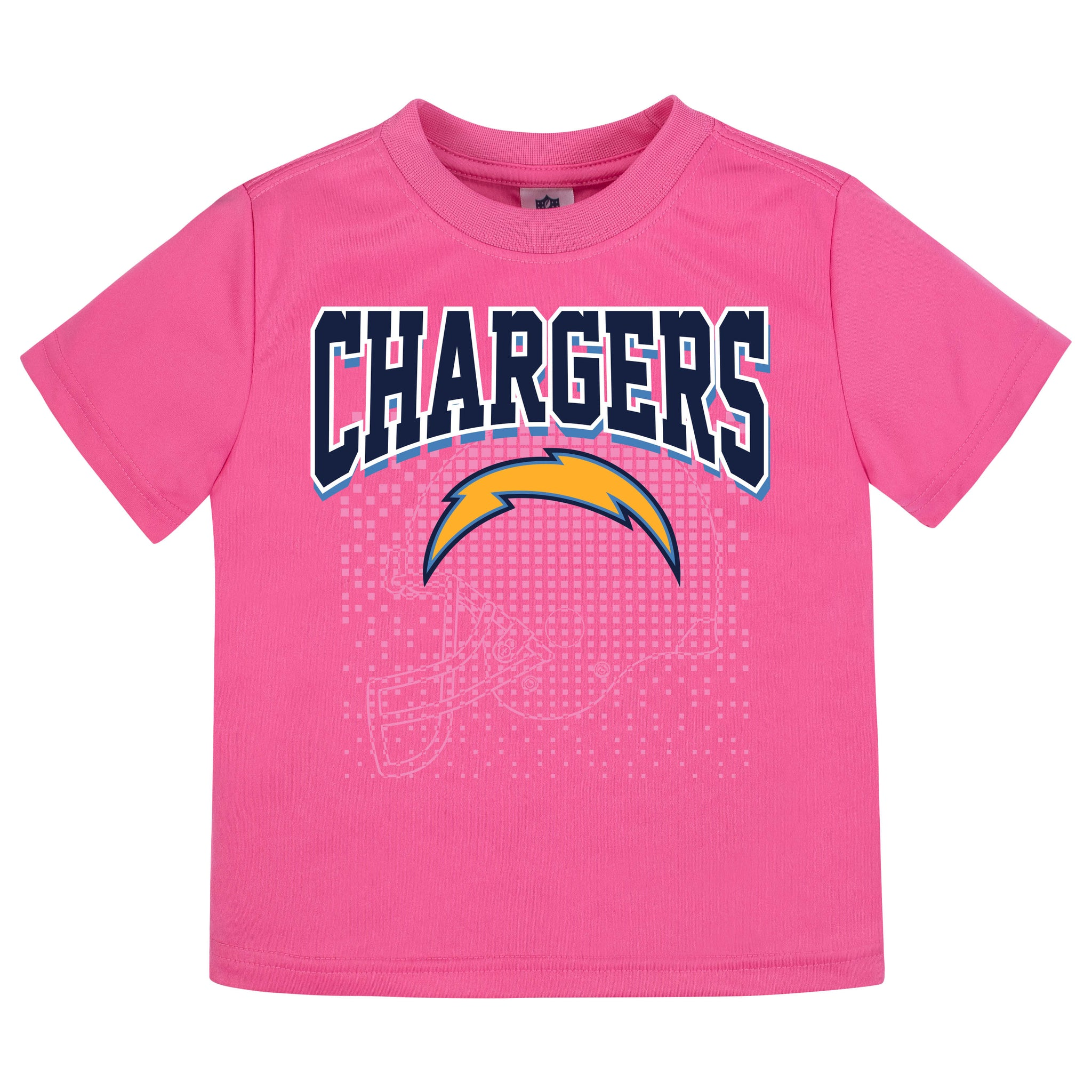 LA Chargers Girls Short Sleeve Tee Shirt-Gerber Childrenswear