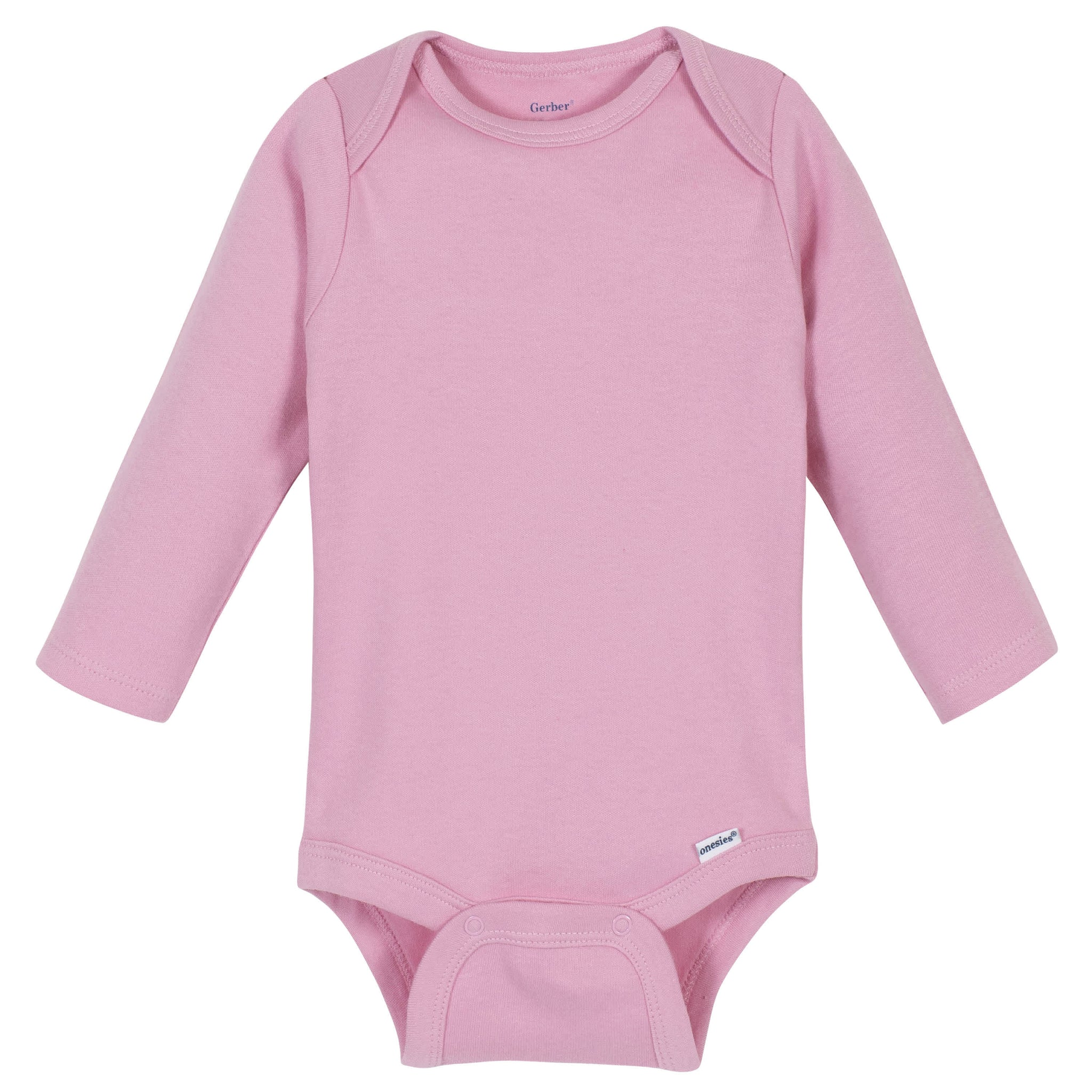 Gerber® Premium Light Pink Long Sleeve Onesies® Brand Bodysuit - 10 Colors Available