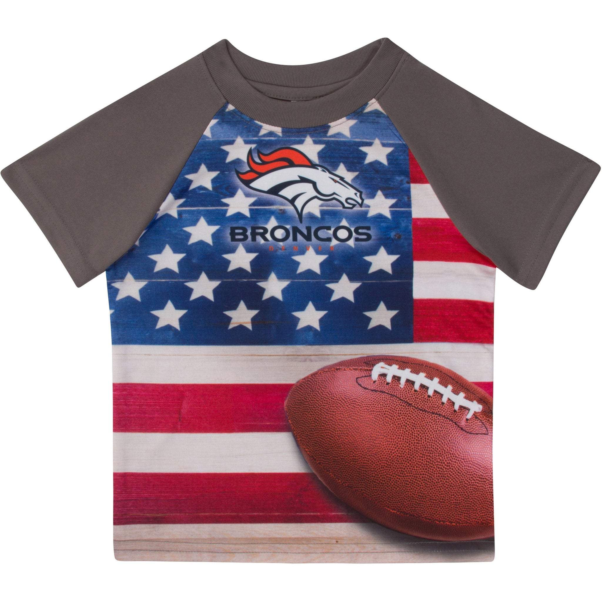 Denver Broncos Boys Short Sleeve Tee Shirt-Gerber Childrenswear