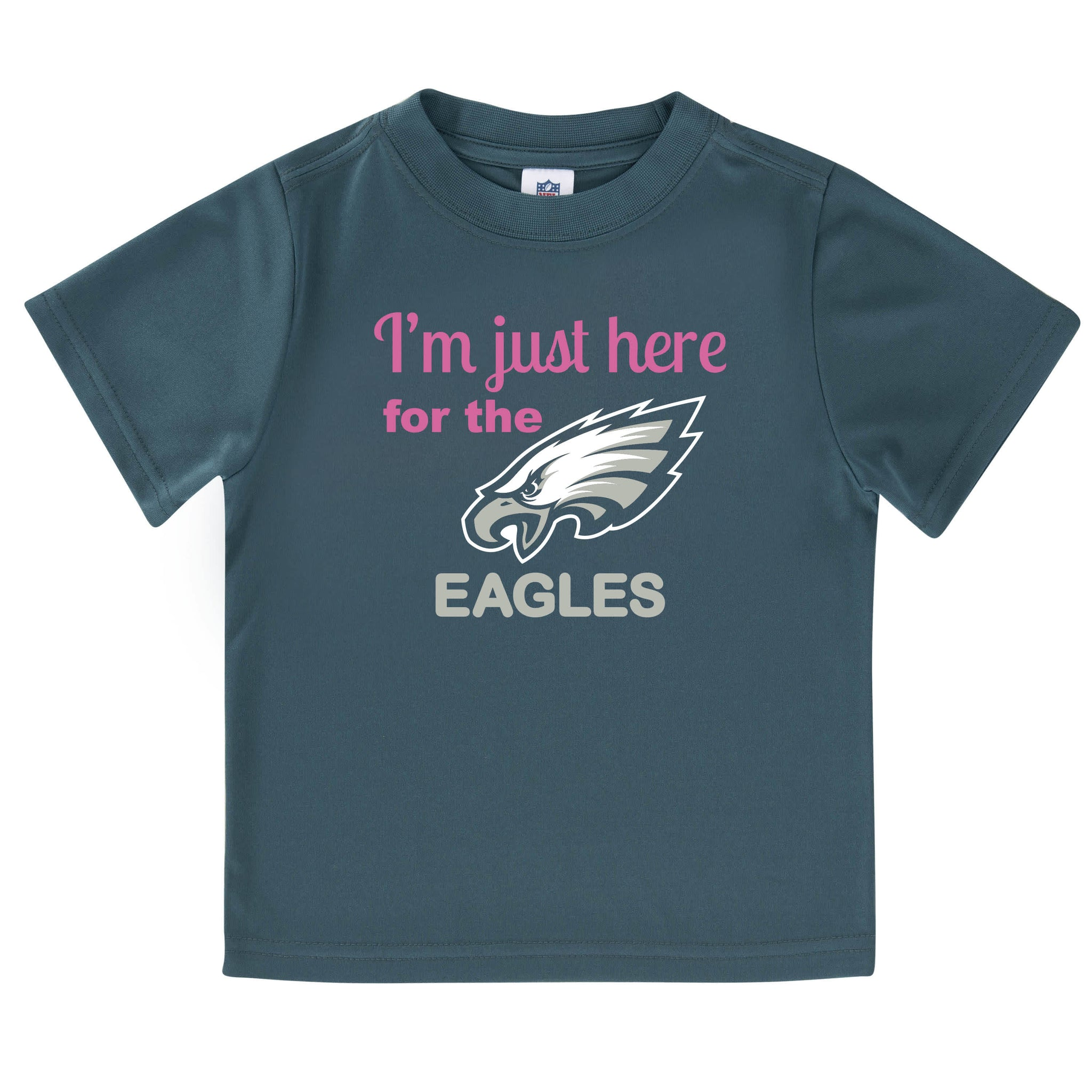 Philidelphia Eagles Girls Short Sleeve Tee Shirt-Gerber Childrenswear