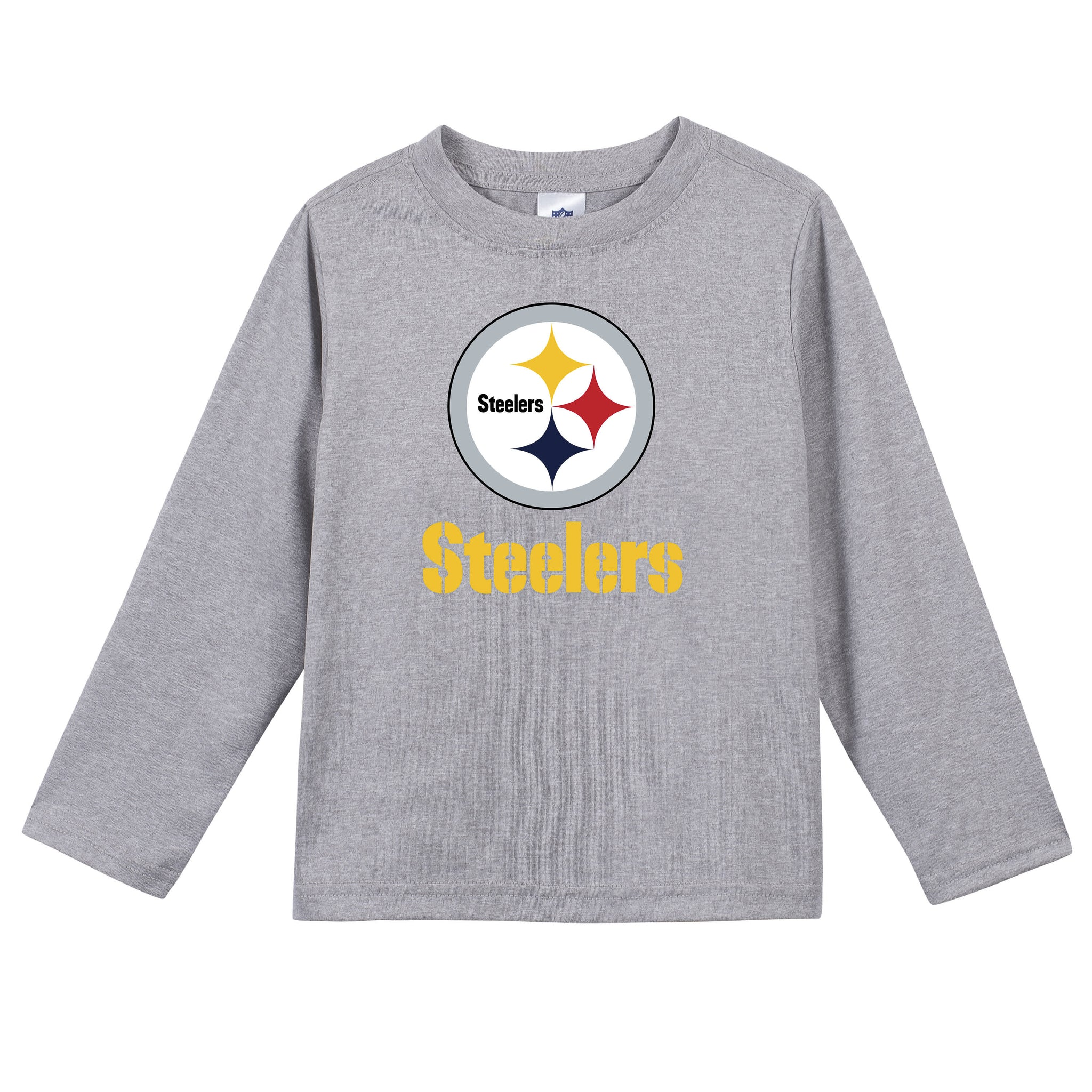 Pittsburgh Steelers Baby Boys Long Sleeve Tee Shirt-Gerber Childrenswear