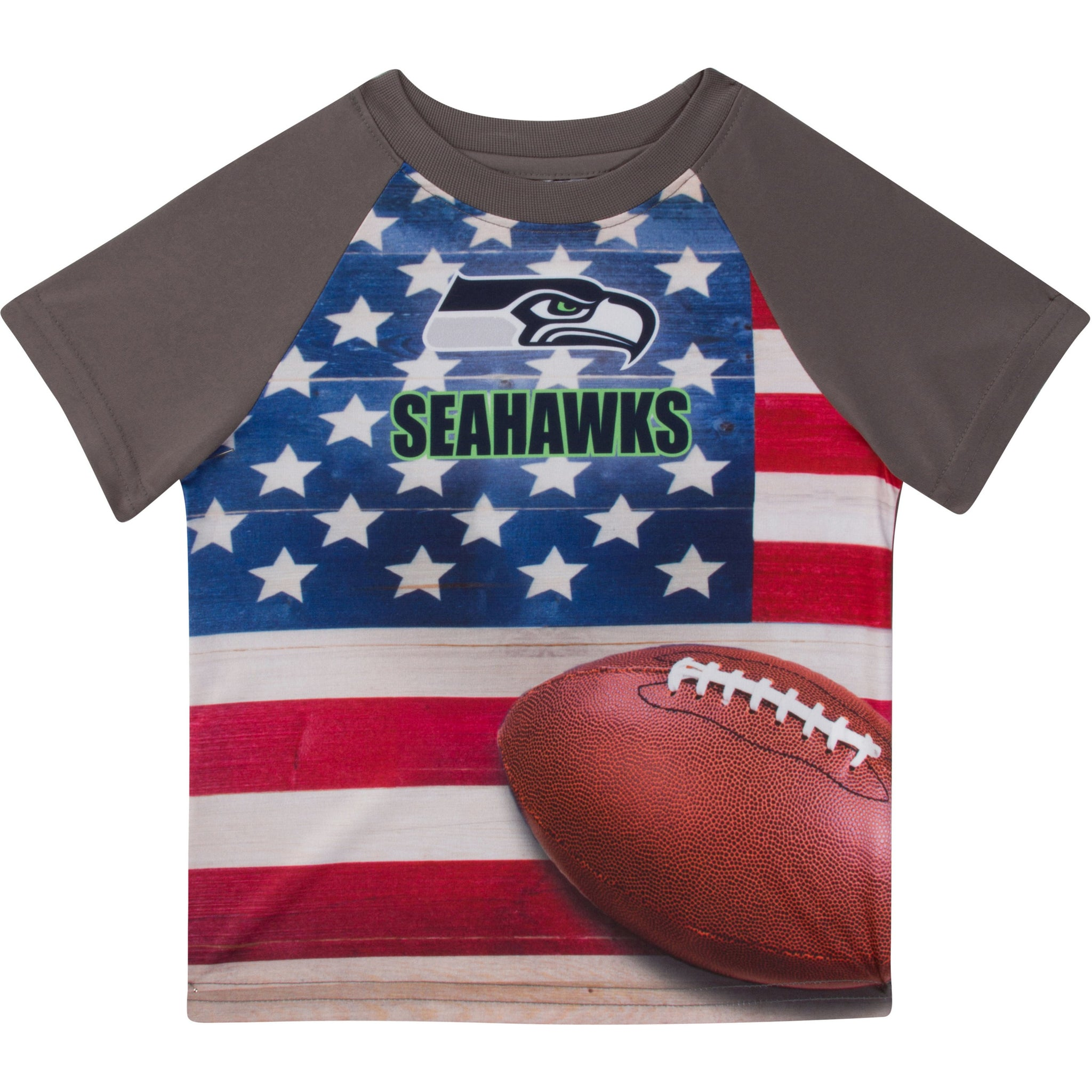 Seattle Seahawks Boys Short Sleeve Tee Shirt-Gerber Childrenswear