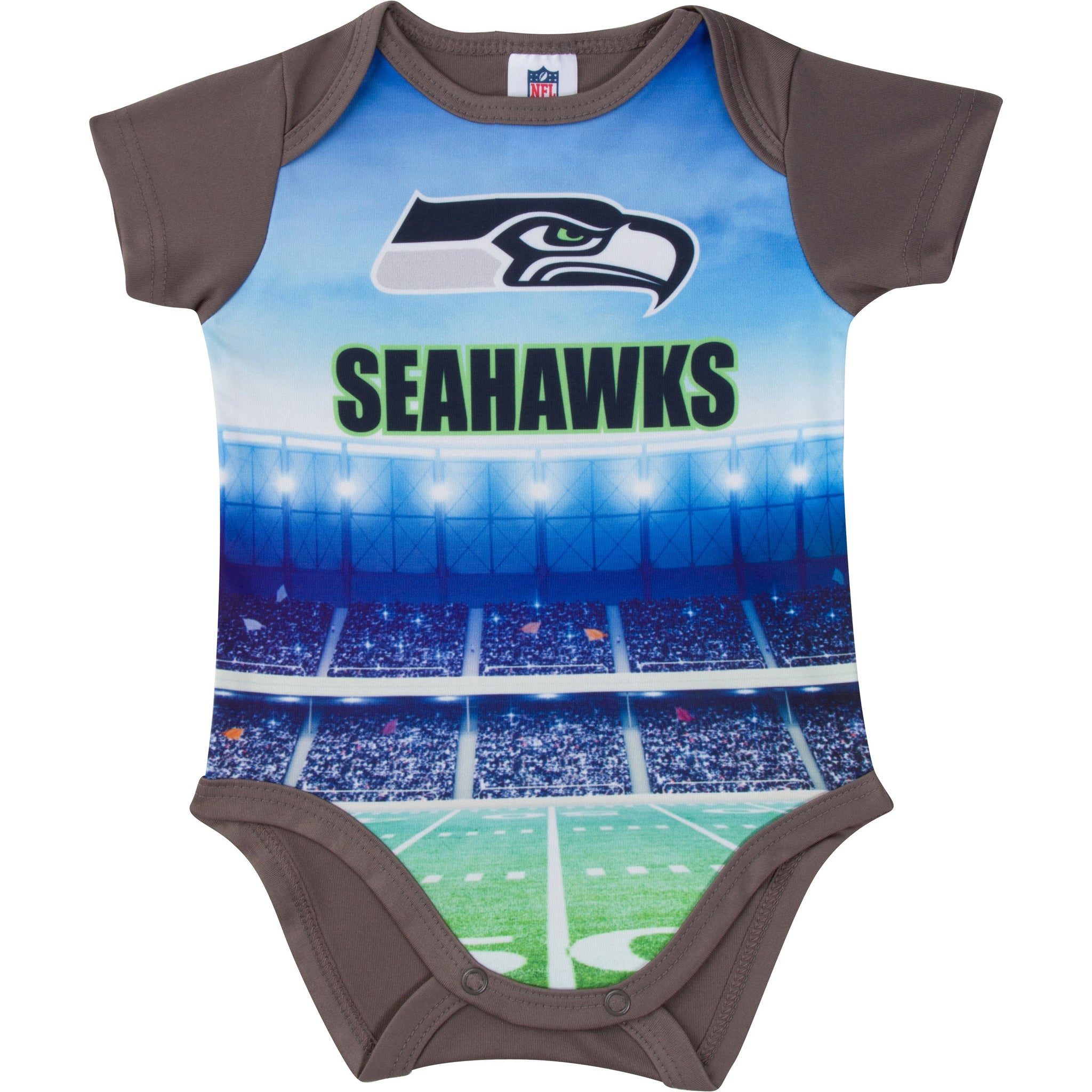 Seattle Seahawks Baby Boy Short Sleeve Bodysuit-Gerber Childrenswear