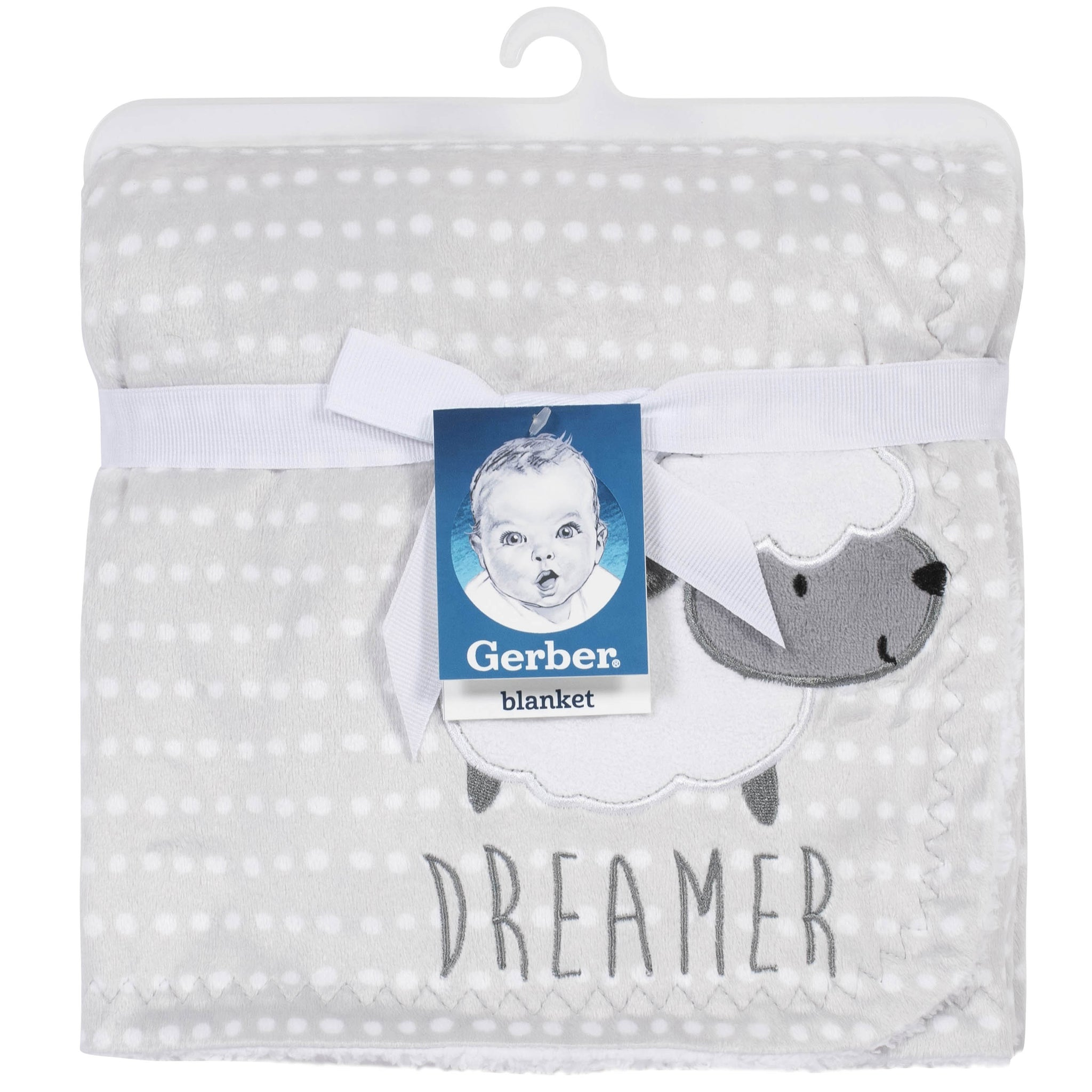 Gerber Baby Neutral Lamb Plush Blanket