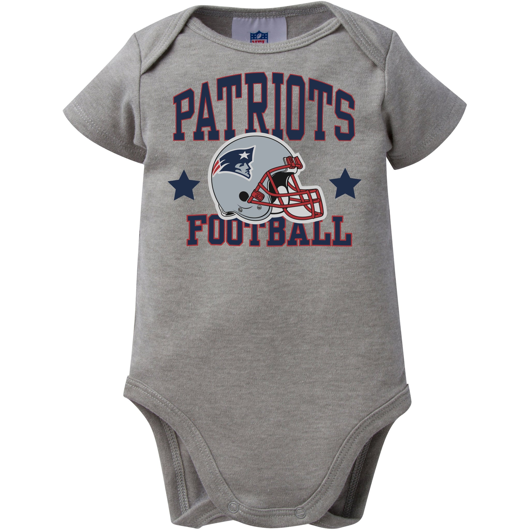 NFL New England Patriots Heather Grey Bodysuit-Gerber Childrenswear