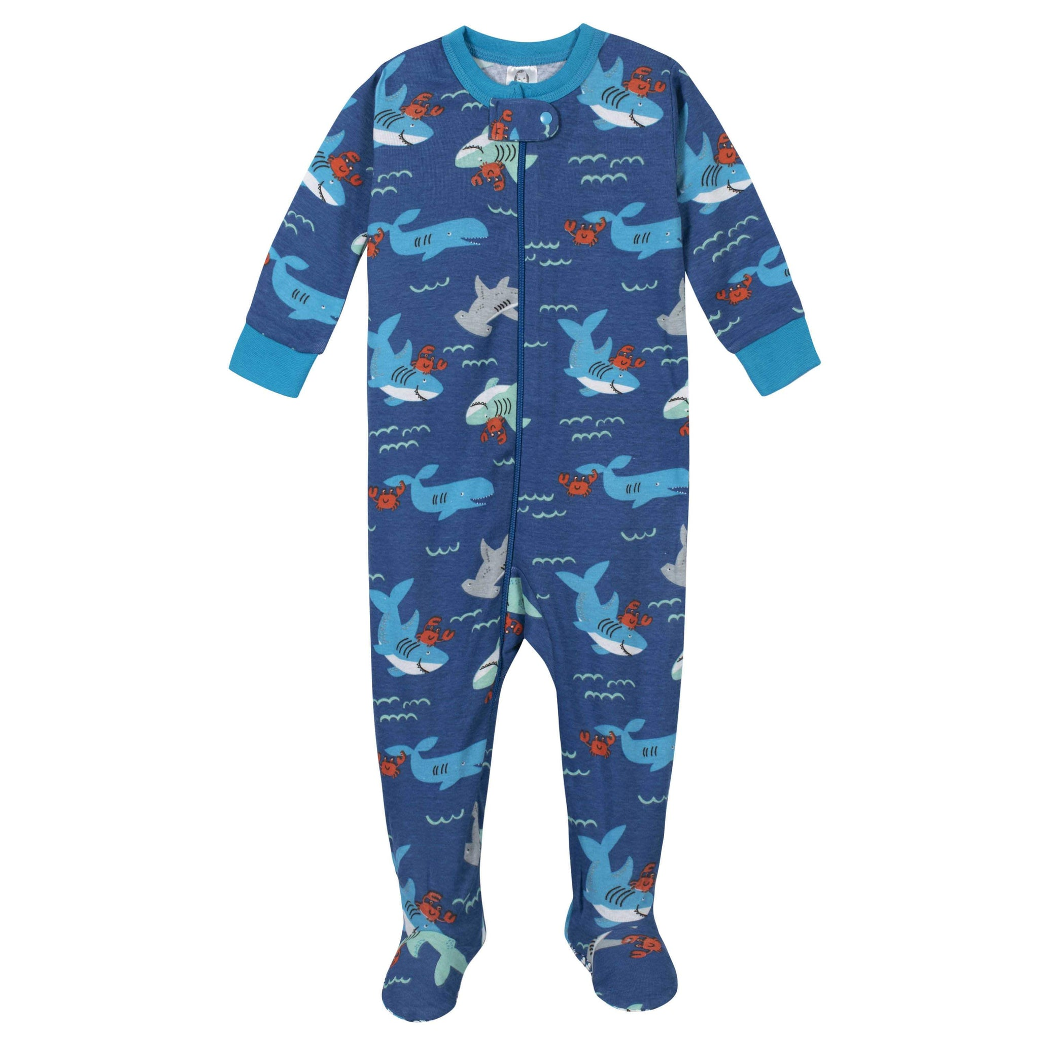 Gerber® 2-Pack Boys Under the Sea Footed Pajamas