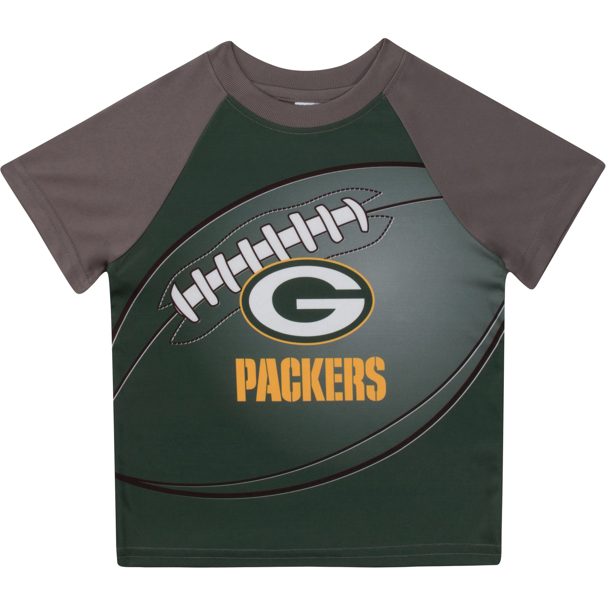 Green Bay Packers Boys Short Sleeve Tee Shirt-Gerber Childrenswear
