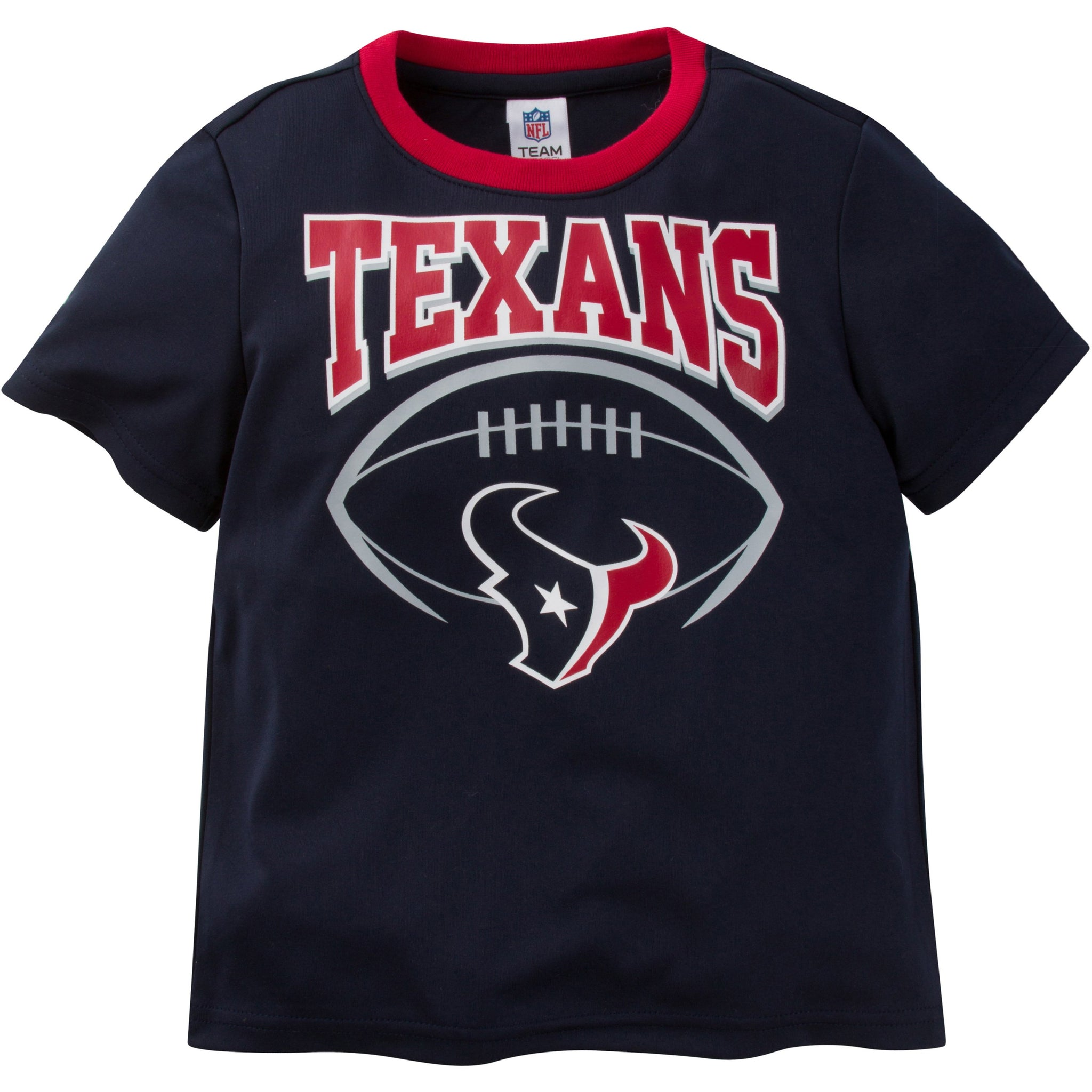 NFL Houston Texans Toddler Boys Short Sleeve Performance Tee Shirt-Gerber Childrenswear