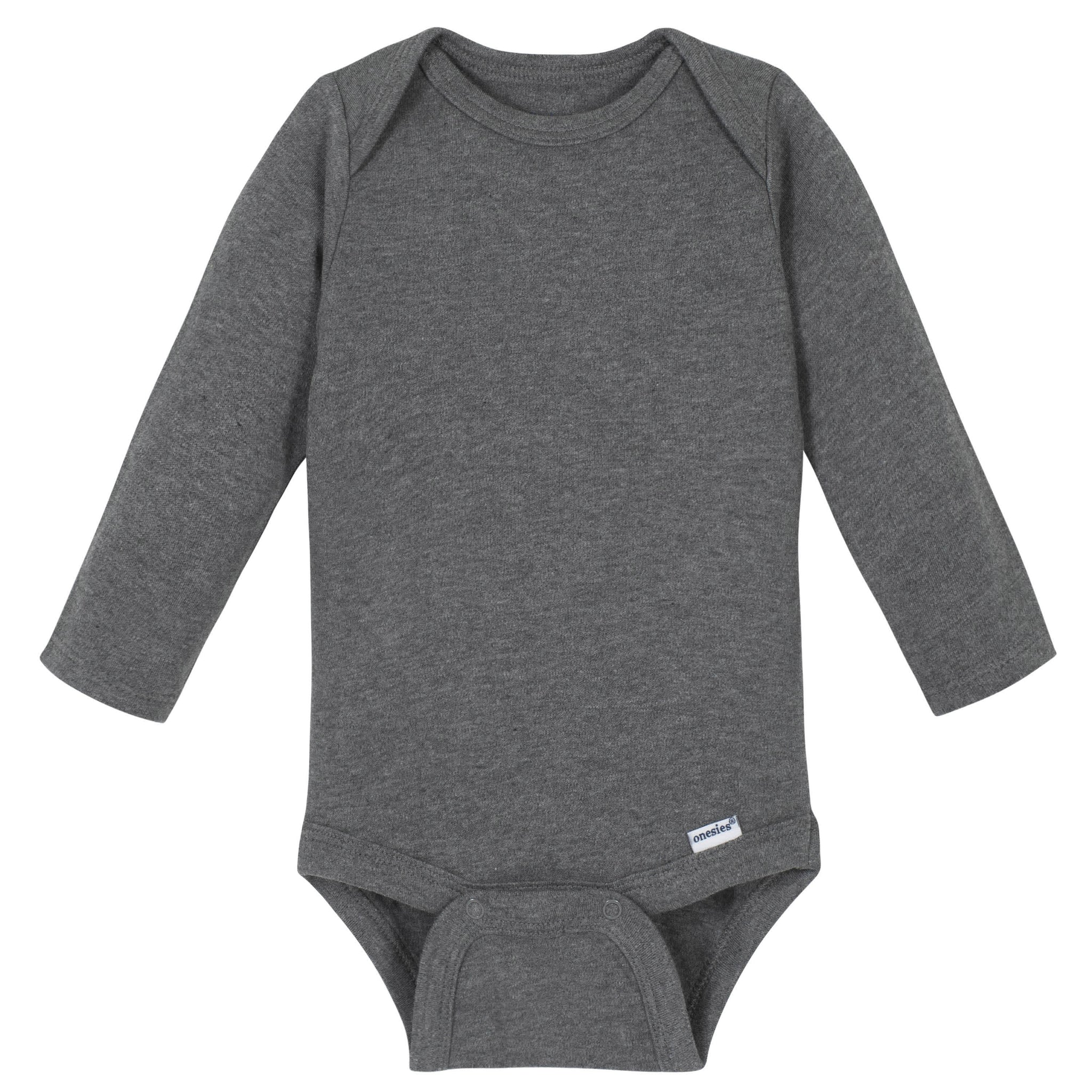 Gerber® Premium Gray Long Sleeve Onesies® Brand Bodysuit - 10 Colors Available