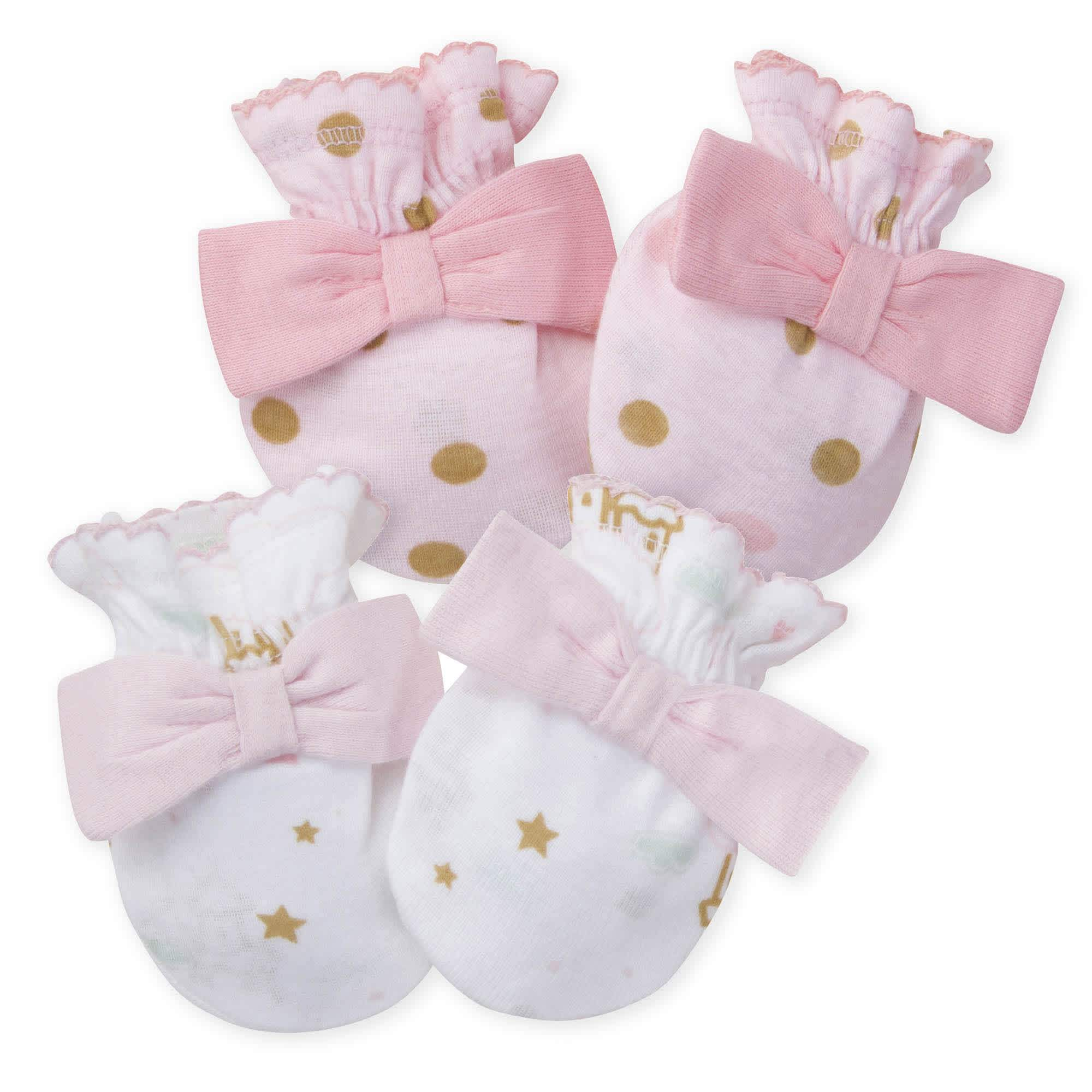 Gerber® 2-Pack Baby Girls Princess Mittens