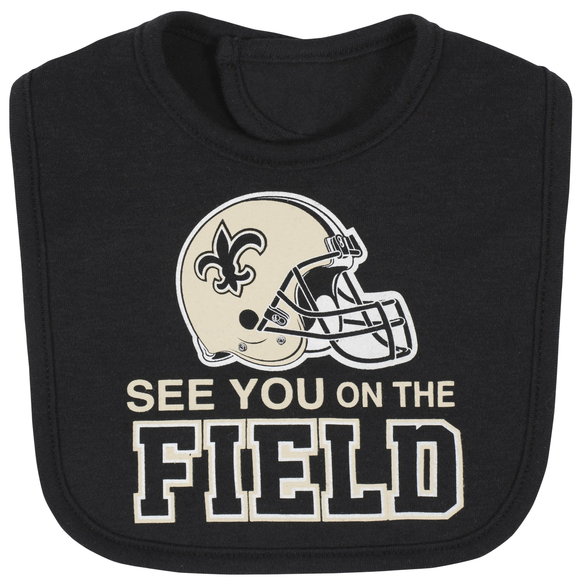 New Orleans Saints 3-Piece Baby Boys Bodysuit, Bib, and Cap Set-Gerber Childrenswear