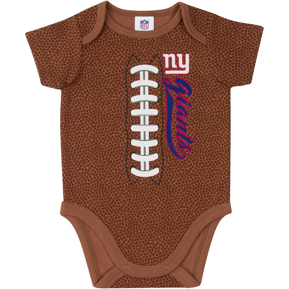 New York Giants Baby Boys Football Short Sleeve Bodysuit-Gerber Childrenswear