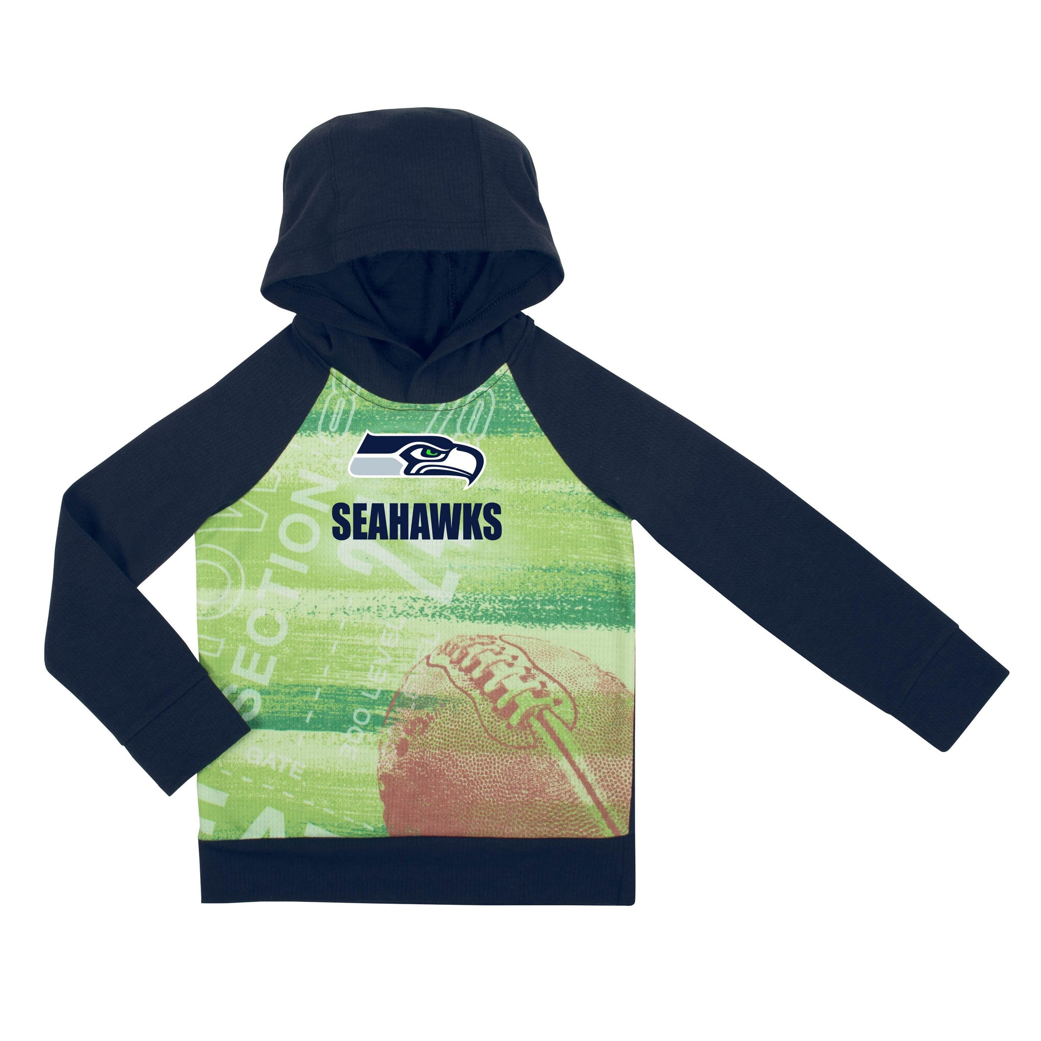 Seattle Seahawks Boys Pullover Hoodie-Gerber Childrenswear