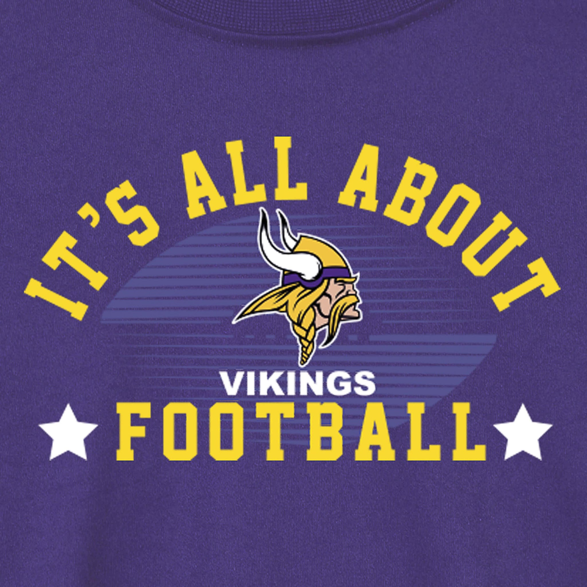 Minnesota Vikings Baby and Toddler Boys Long Sleeve Tee Shirt