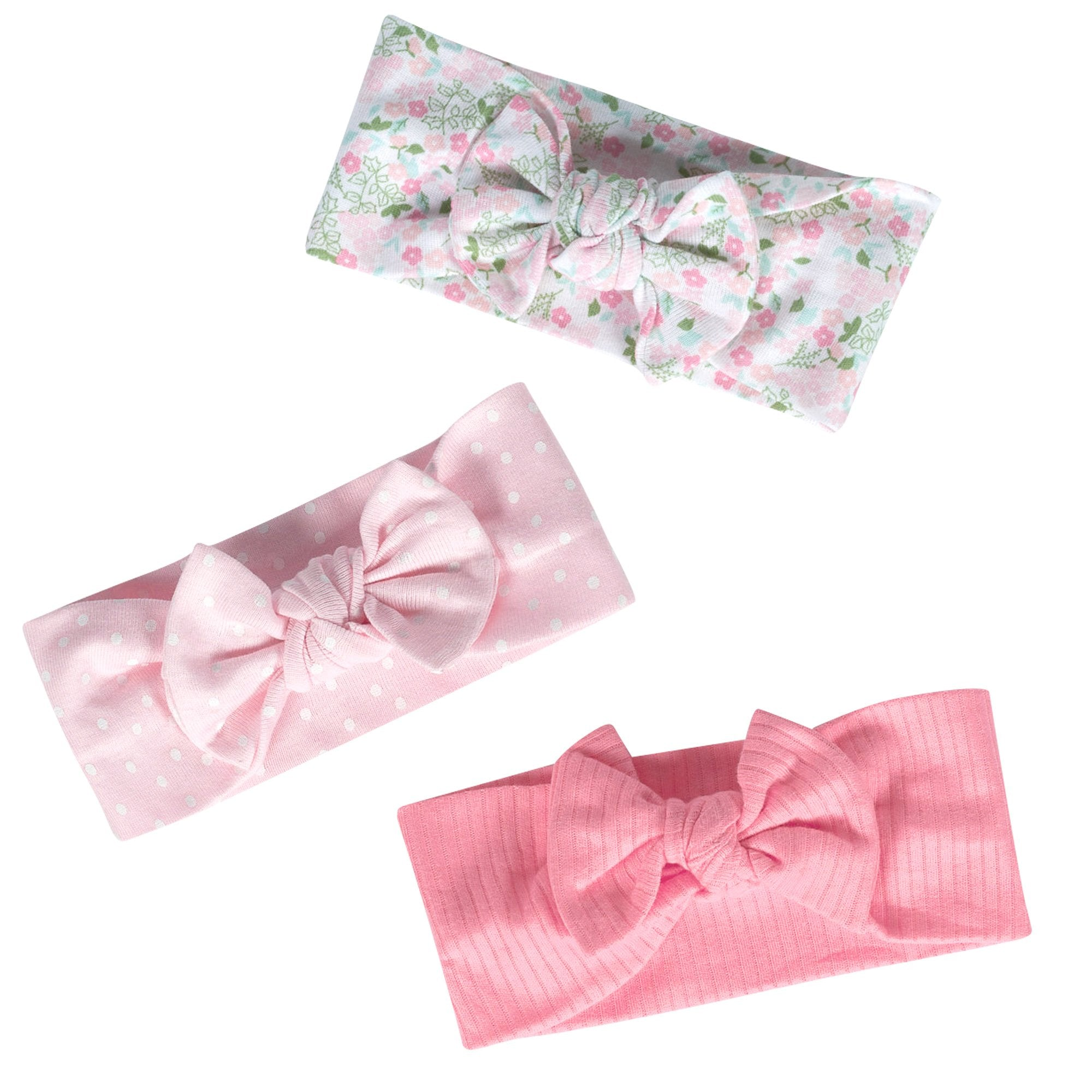Just Born® Organic Baby Girls 3-Pack Lil' Llama Headbands