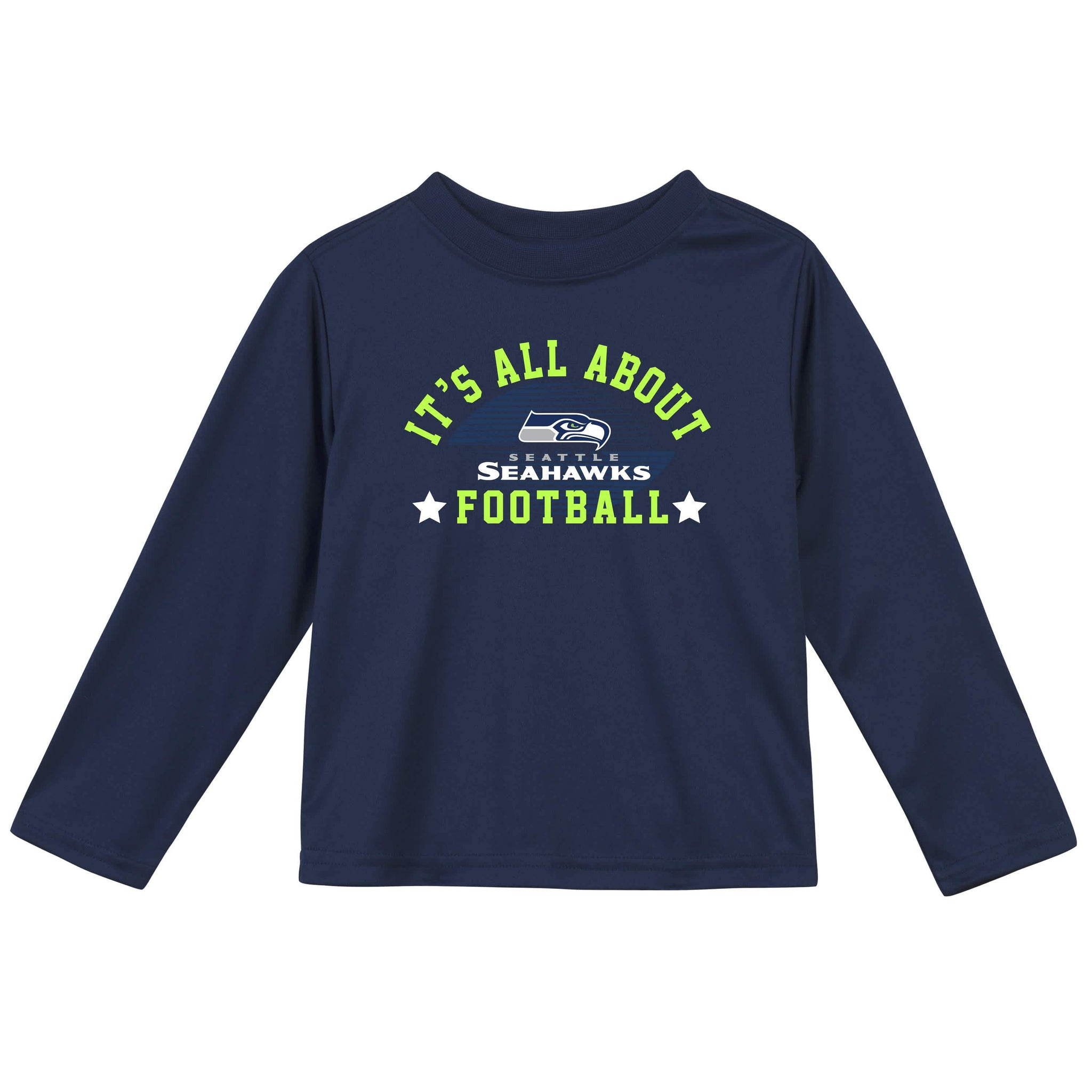 Seattle Seahawks Baby and Toddler Boys Long Sleeve Tee Shirt-Gerber Childrenswear