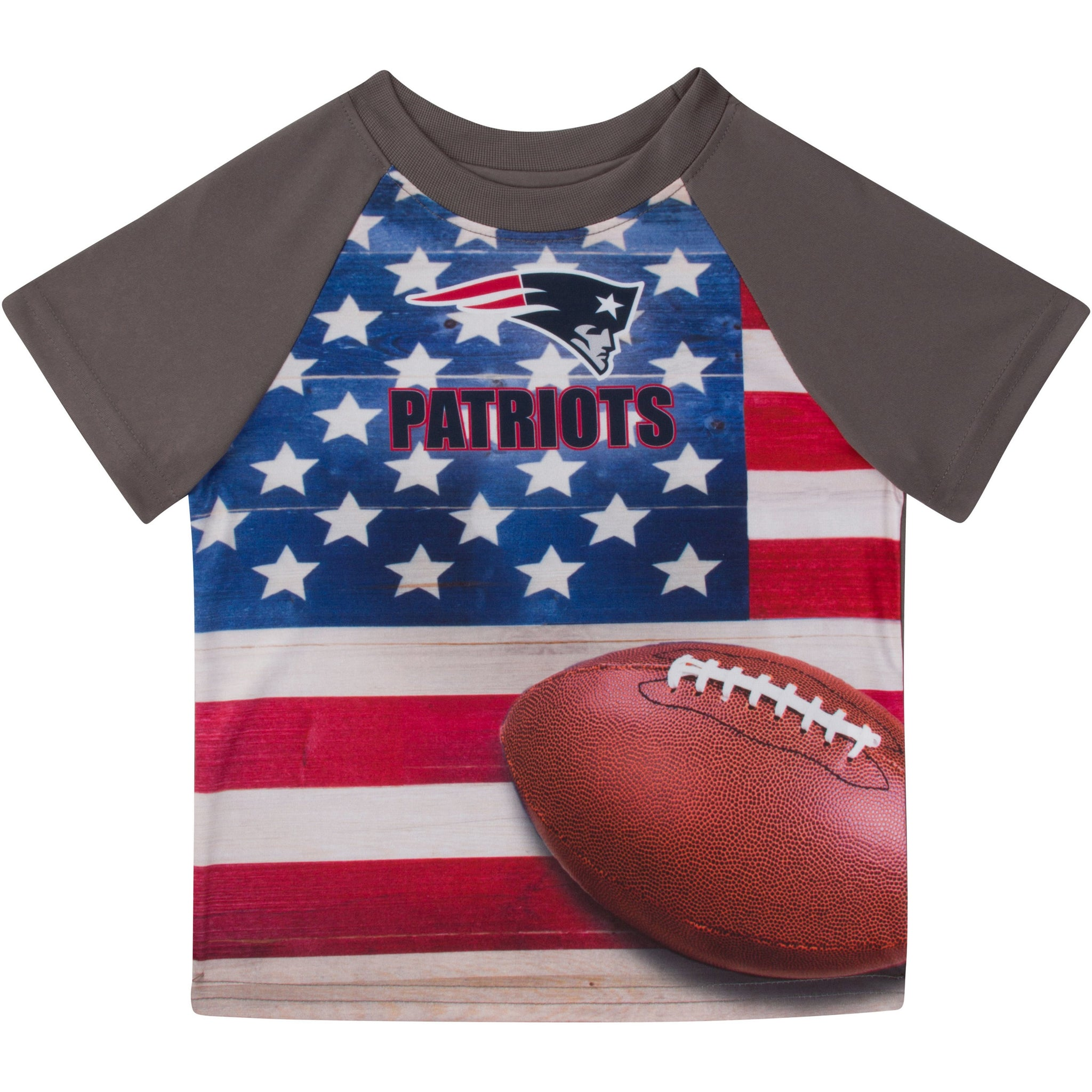 New England Patriots Boys Short Sleeve Tee Shirt