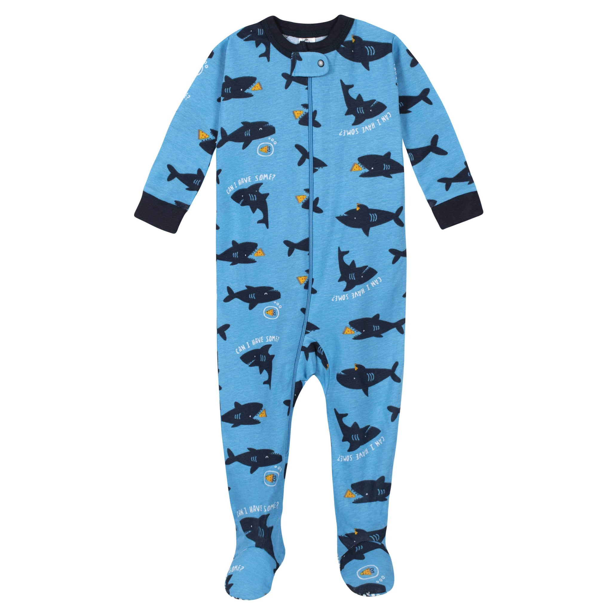 Gerber® 4-Pack Baby Boys Monsters and Sharks Footed Pajamas-Gerber Childrenswear