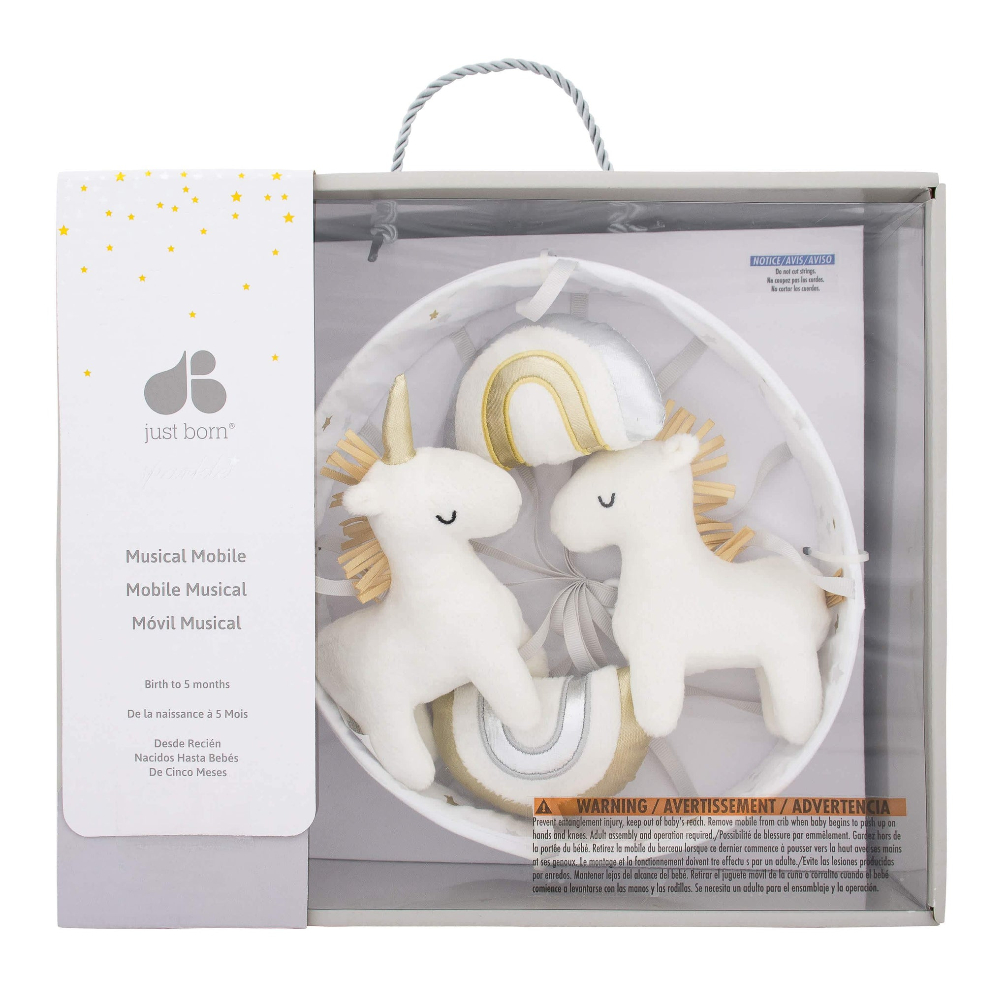 Just Born® Baby Neutral Unicorns & Rainbows Mobile-Gerber Childrenswear