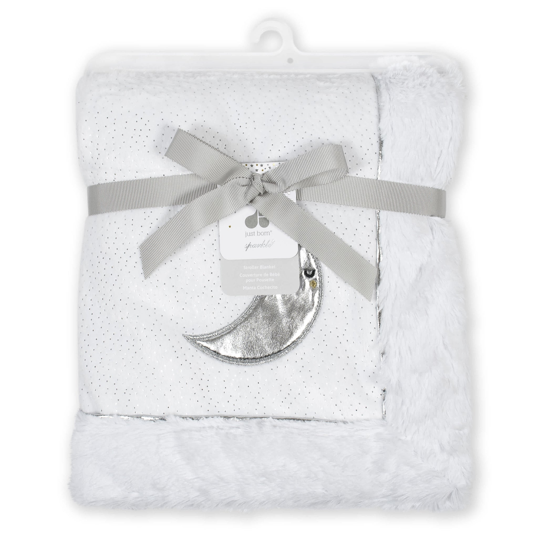 Just Born® Baby Neutral Moon Plush Blanket-Gerber Childrenswear