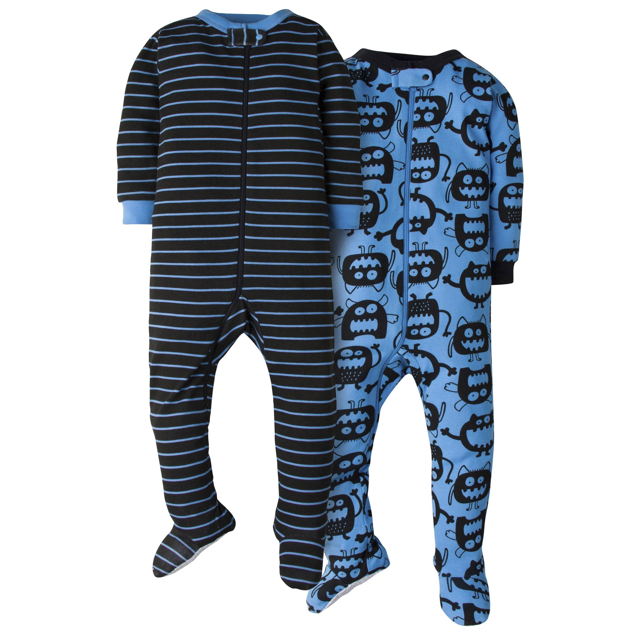 2-Pack Baby Boys Footed Union Suits - Not Tired