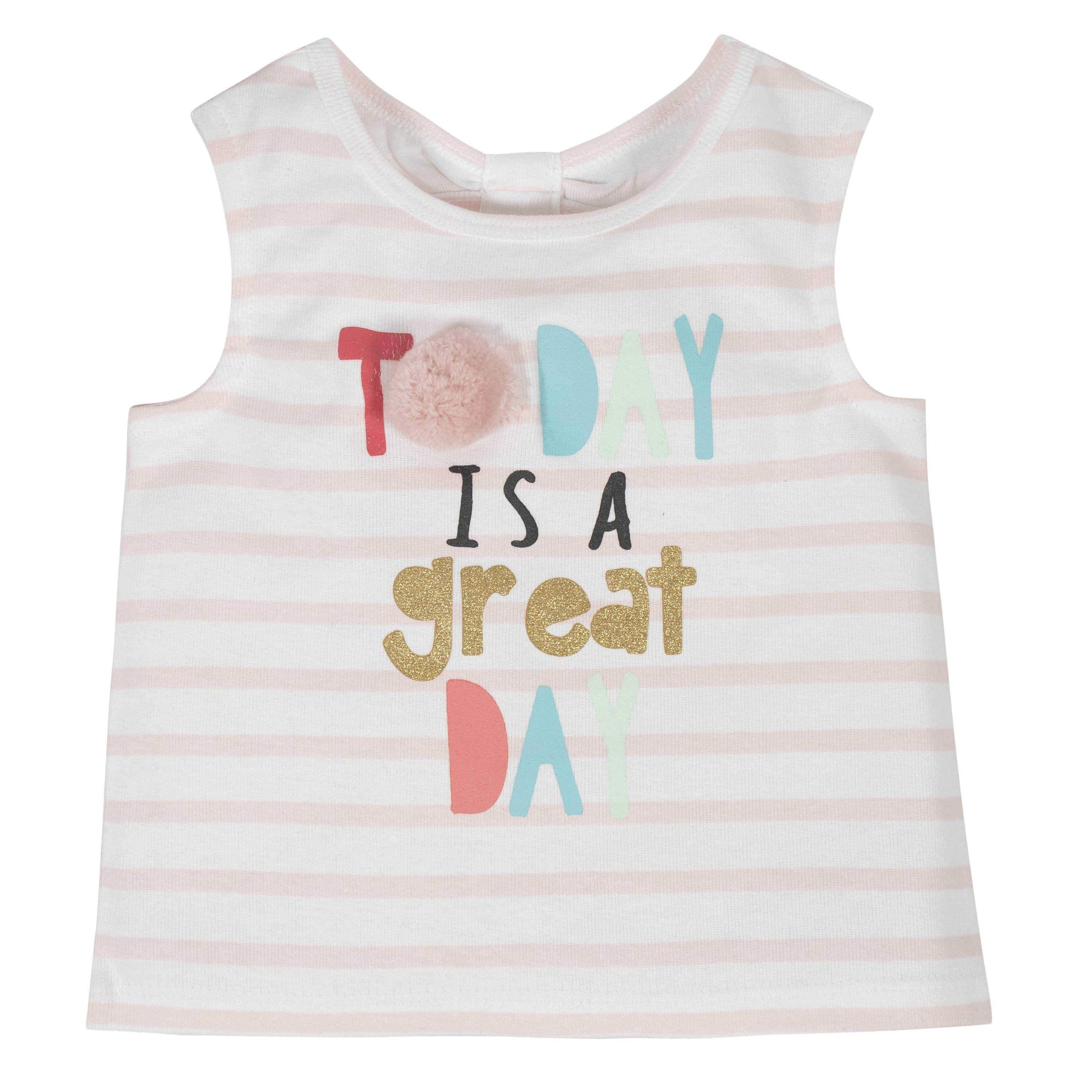 2-Piece Baby Girls Great Day Tank and Tutu Short Set