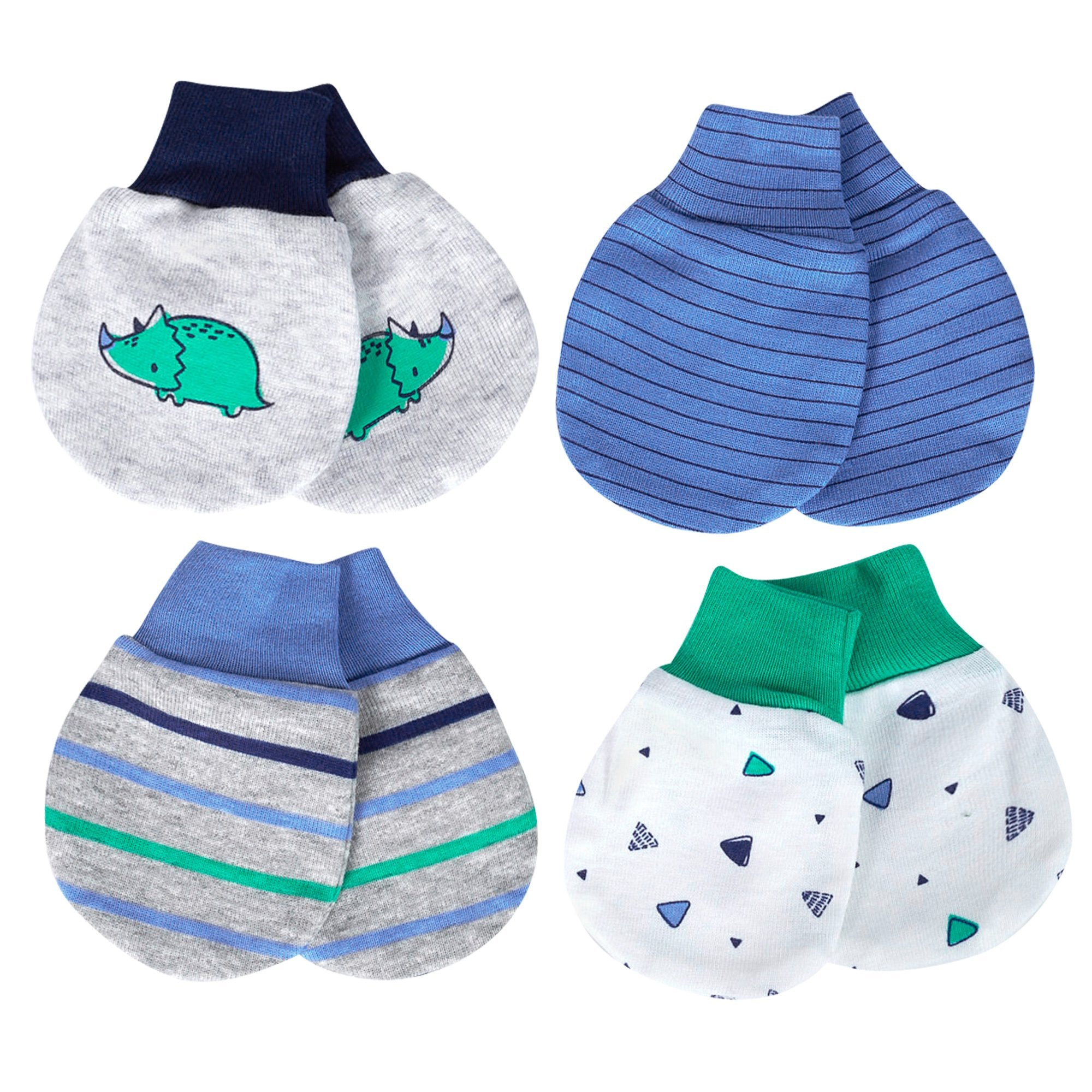 Just Born® Organic Baby Boys 4-Pack Lil' Dino Mittens-Gerber Childrenswear