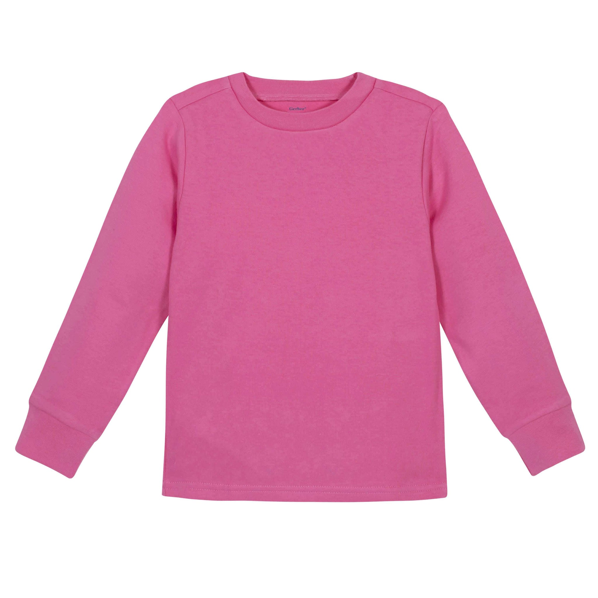 Gerber® Premium Hot Pink Long Sleeve Tee Shirt - 10 Colors Available