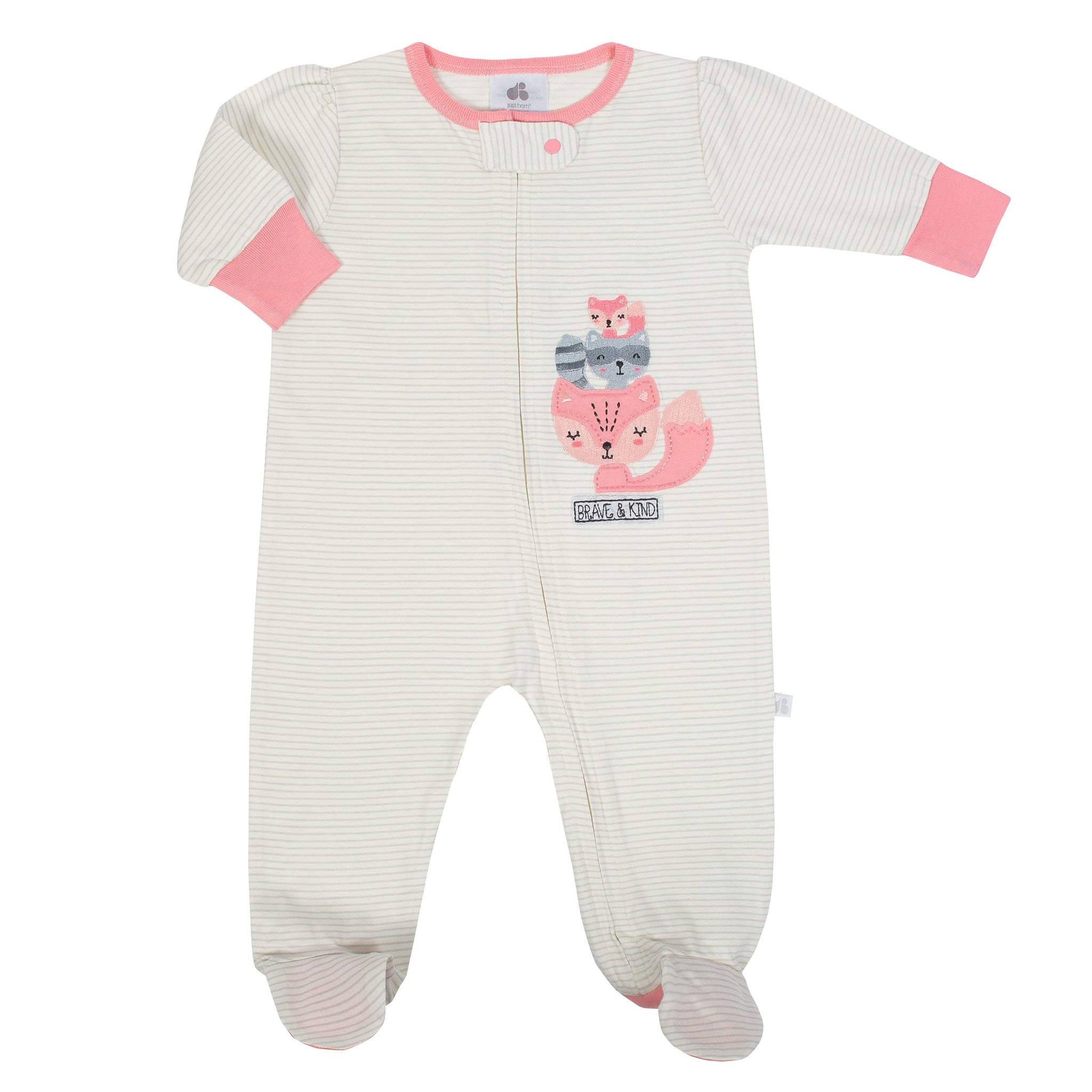 Baby Girl Just Born® Organic Fox Sleep N' Play